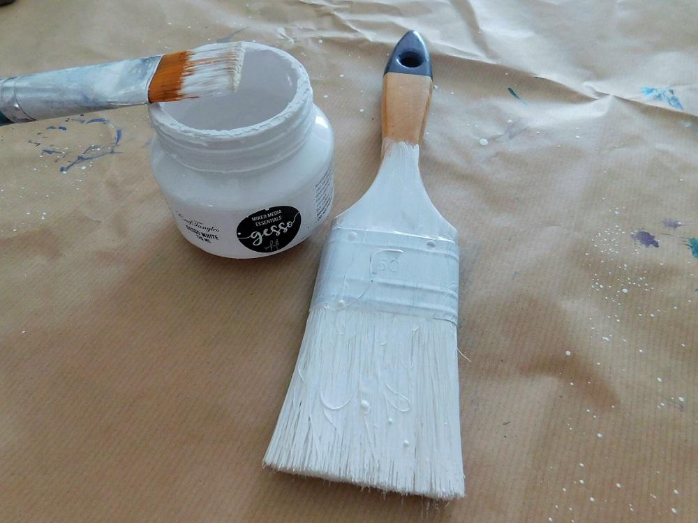 Altered mixed media paint brush 2