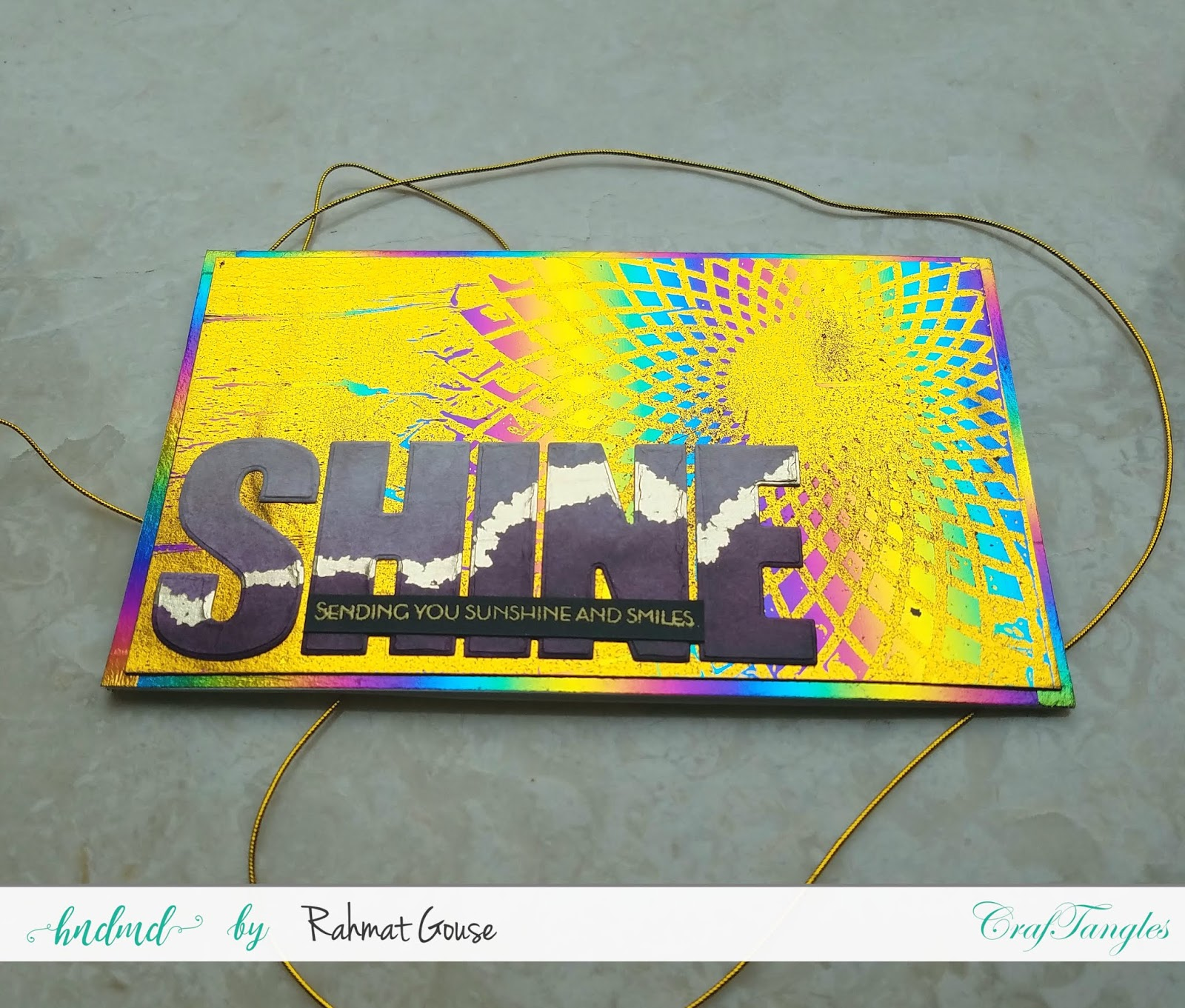 Double foiling using the negatives of stencils and foils - Rahmat 4