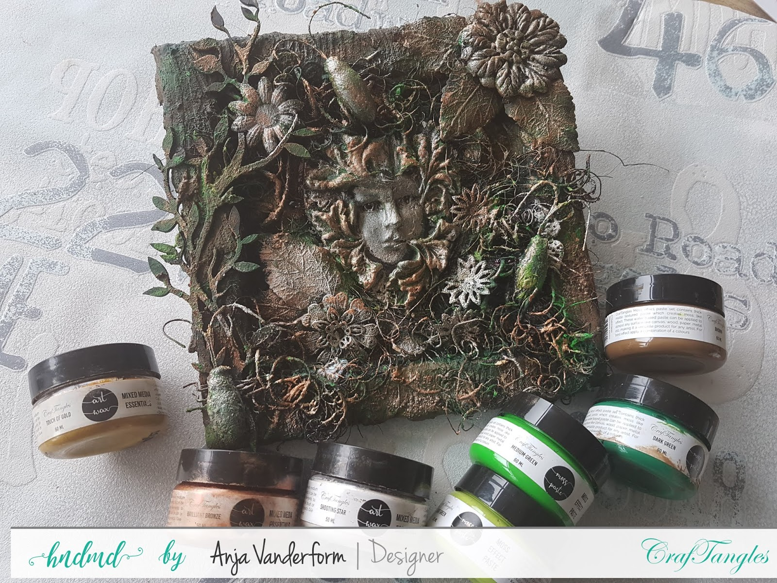 mixed media canvas Inspired by Nature by Anja 1