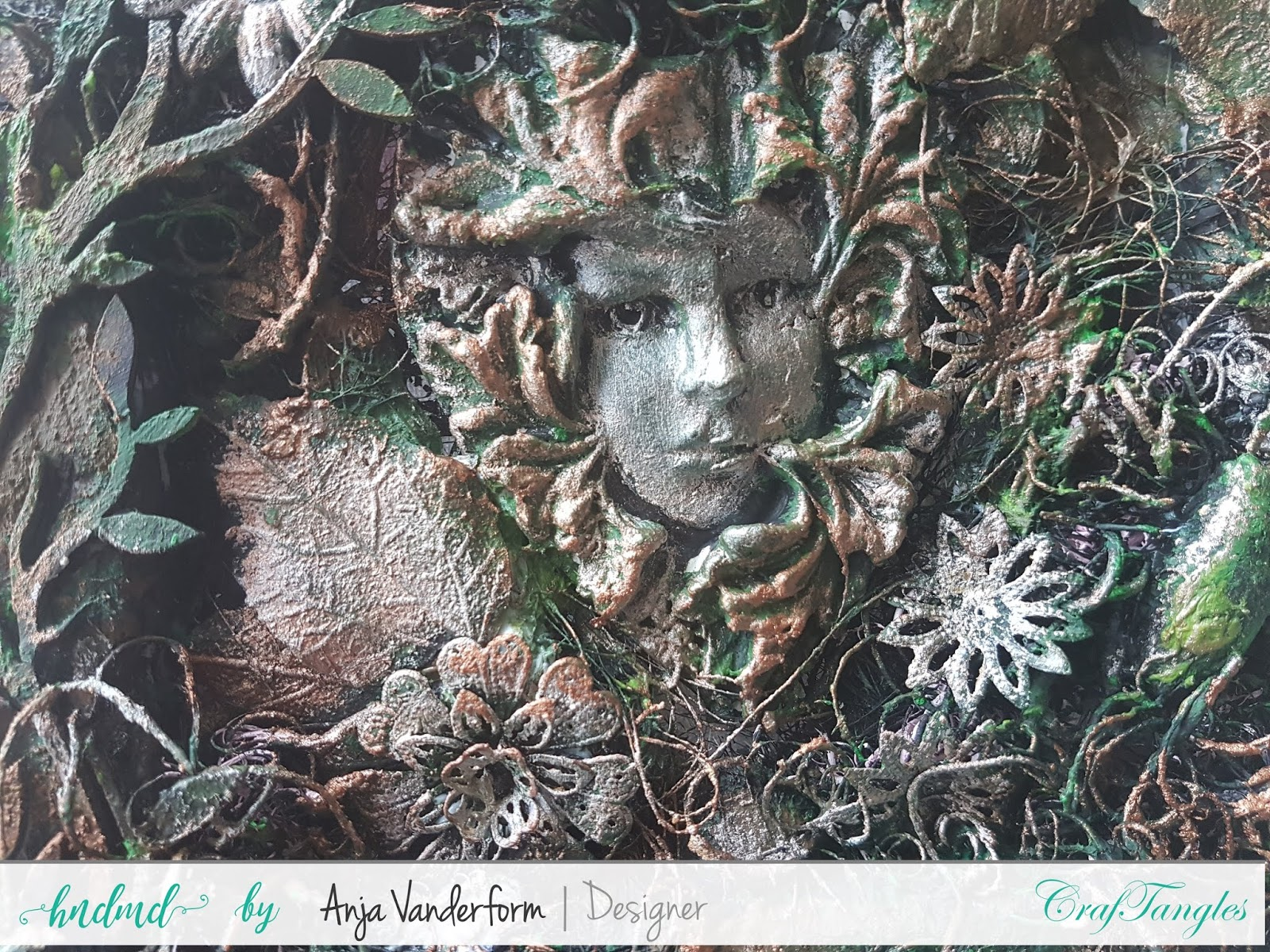 mixed media canvas Inspired by Nature by Anja 3