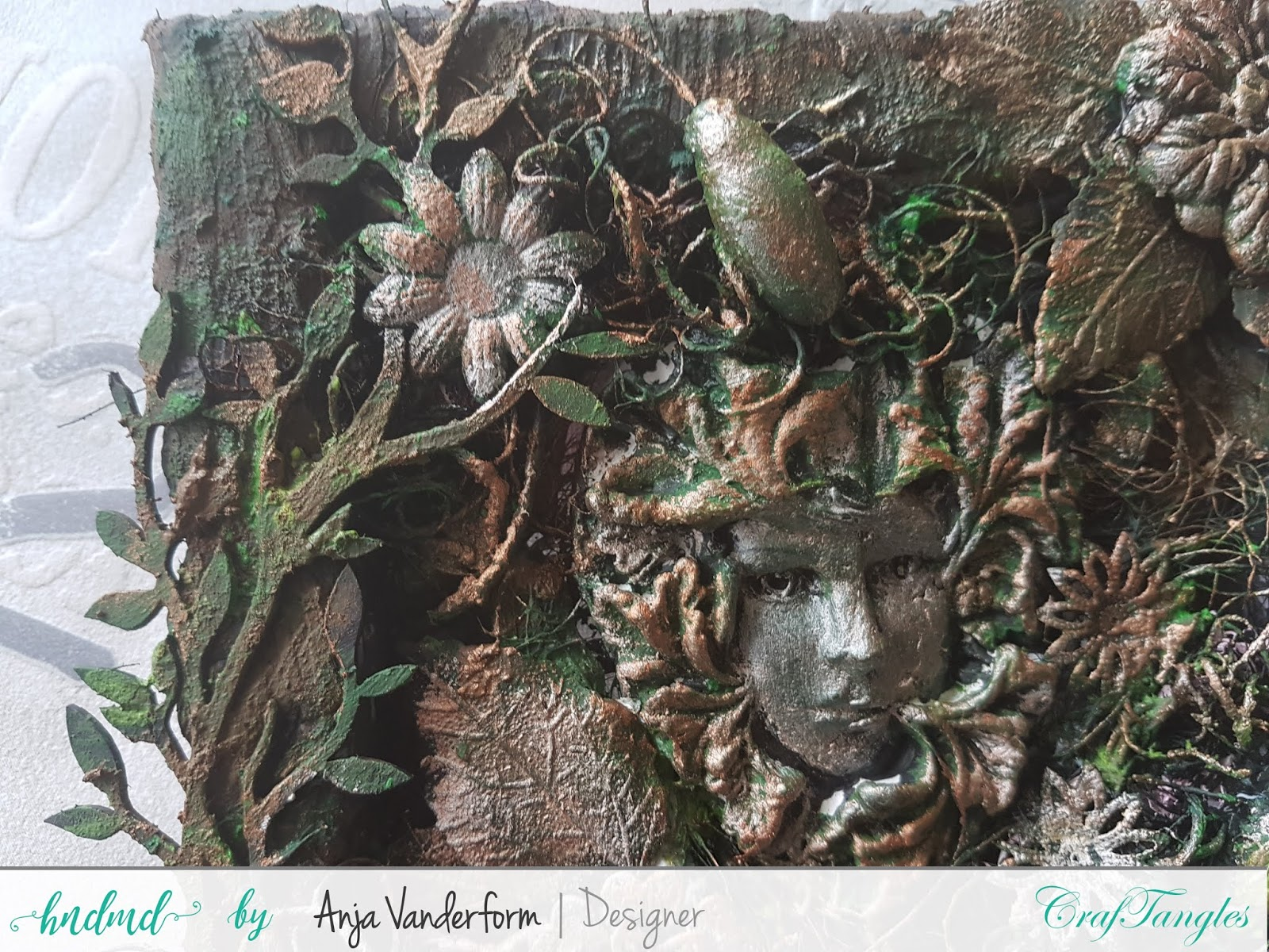 mixed media canvas Inspired by Nature by Anja 2