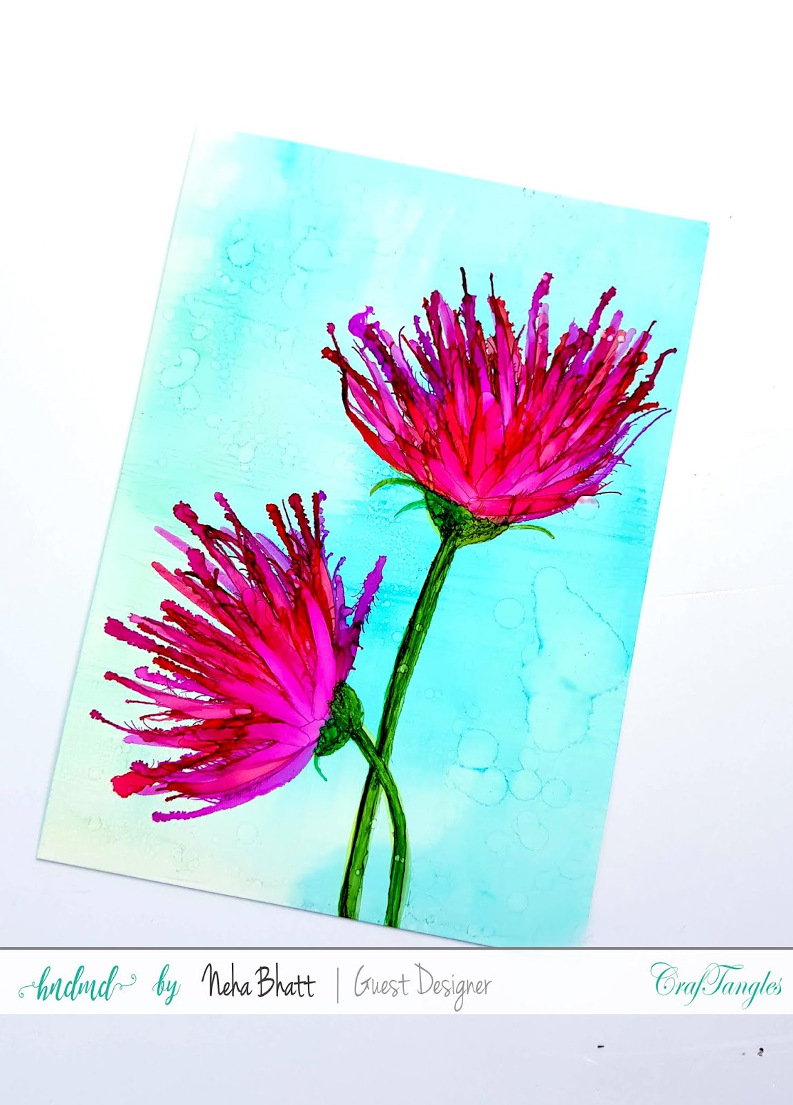 Some experiments with CrafTangles alcohol ink papers by Neha Bhatt [Periwinkle Creations] 14