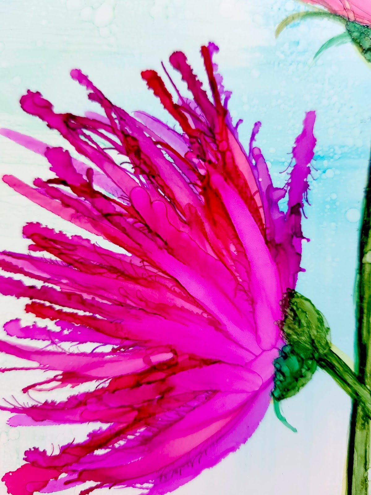 Some experiments with CrafTangles alcohol ink papers by Neha Bhatt [Periwinkle Creations] 16