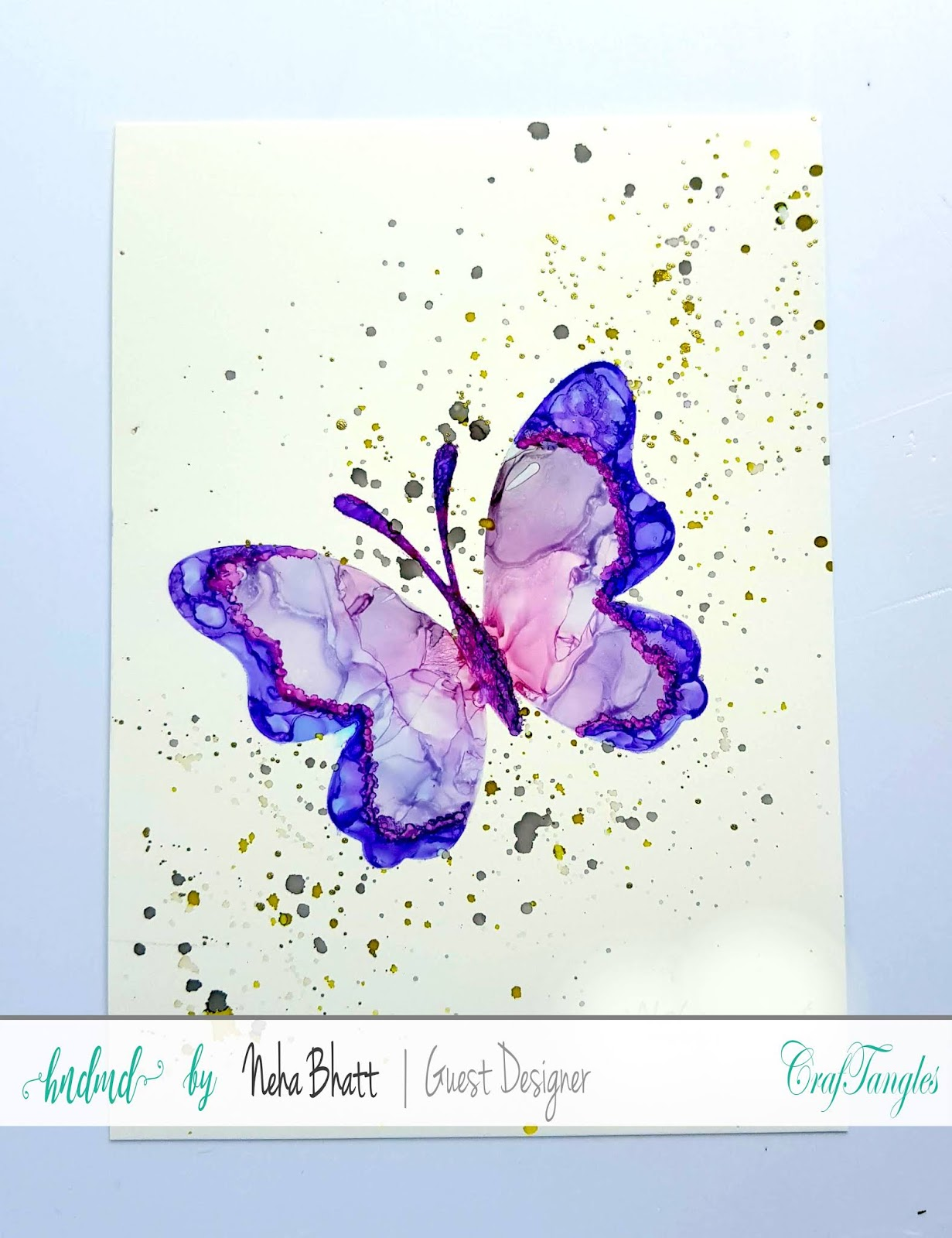 Some experiments with CrafTangles alcohol ink papers by Neha Bhatt [Periwinkle Creations] 18