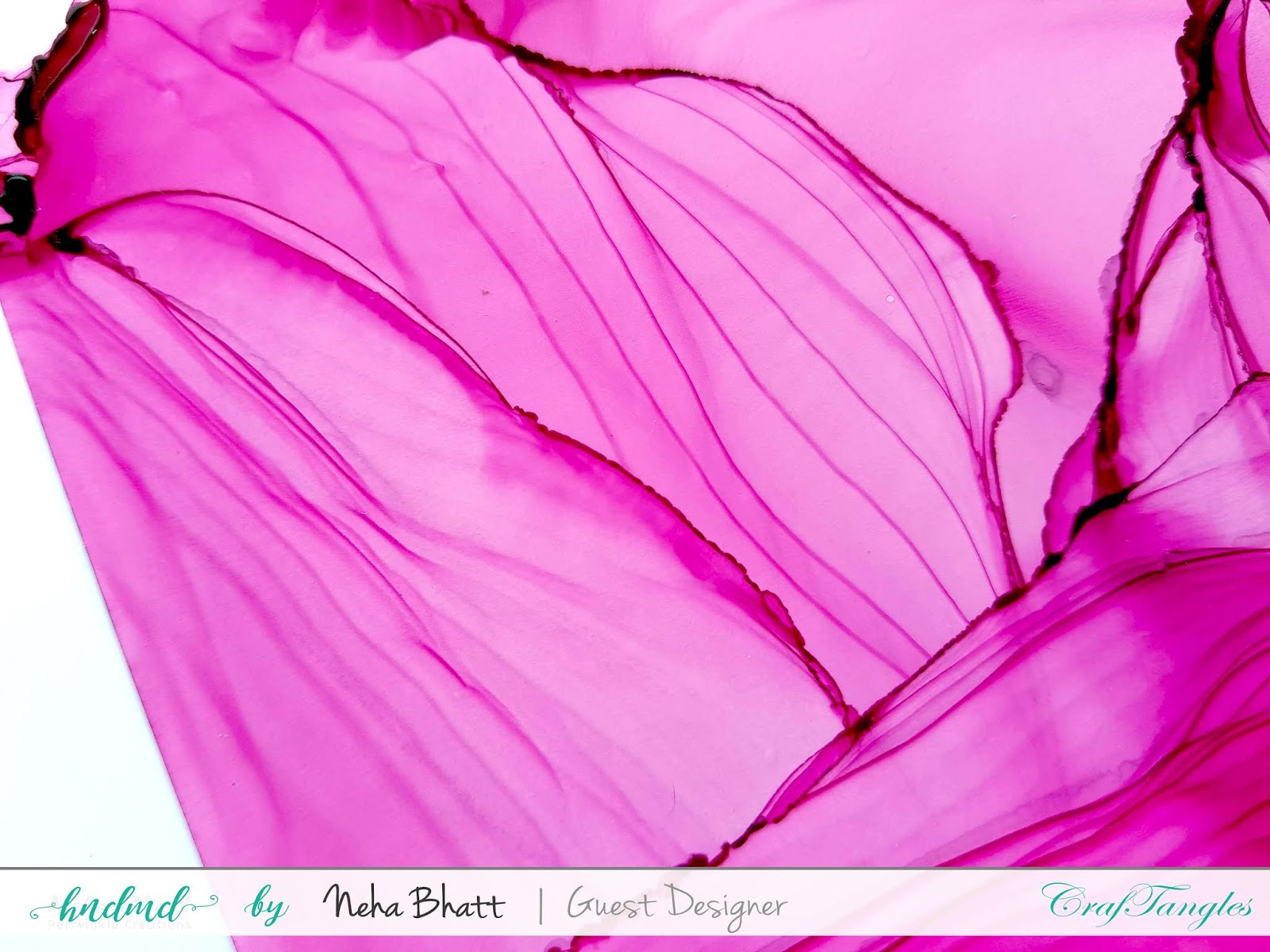 Some experiments with CrafTangles alcohol ink papers by Neha Bhatt [Periwinkle Creations] 24