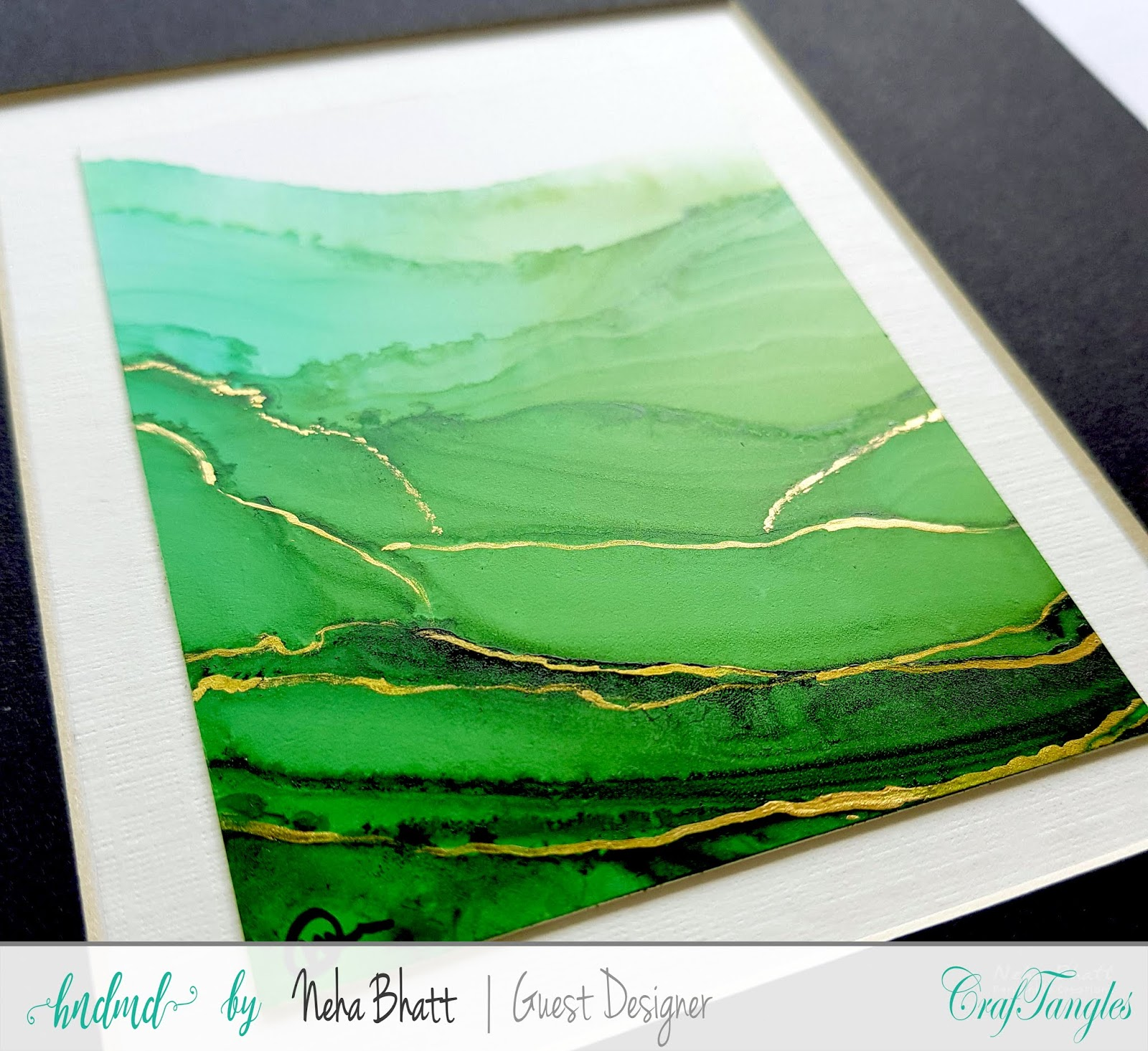 Some experiments with CrafTangles alcohol ink papers by Neha Bhatt [Periwinkle Creations] 3