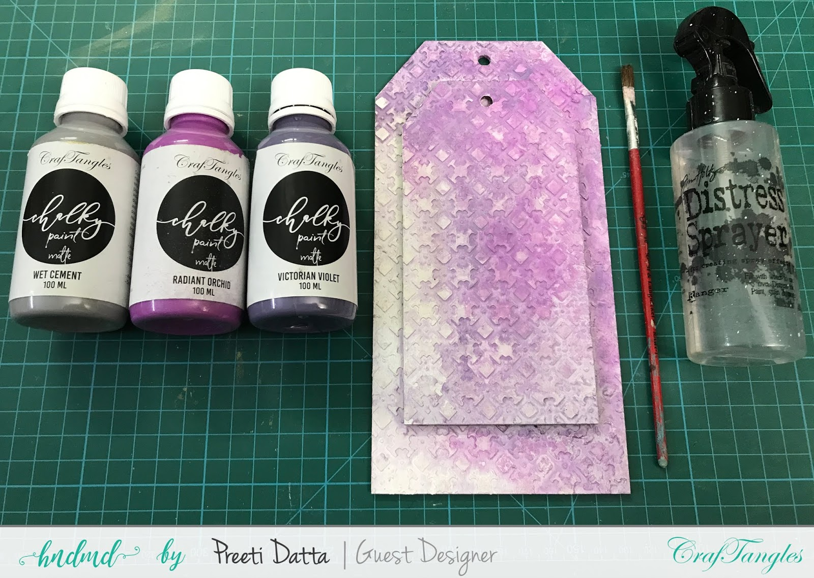 Floral Mixed Media Tag (with Pictorial) by Preeti Datta 19