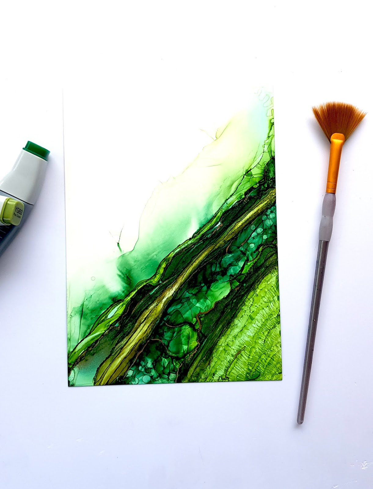 Some experiments with CrafTangles alcohol ink papers by Neha Bhatt [Periwinkle Creations] 4