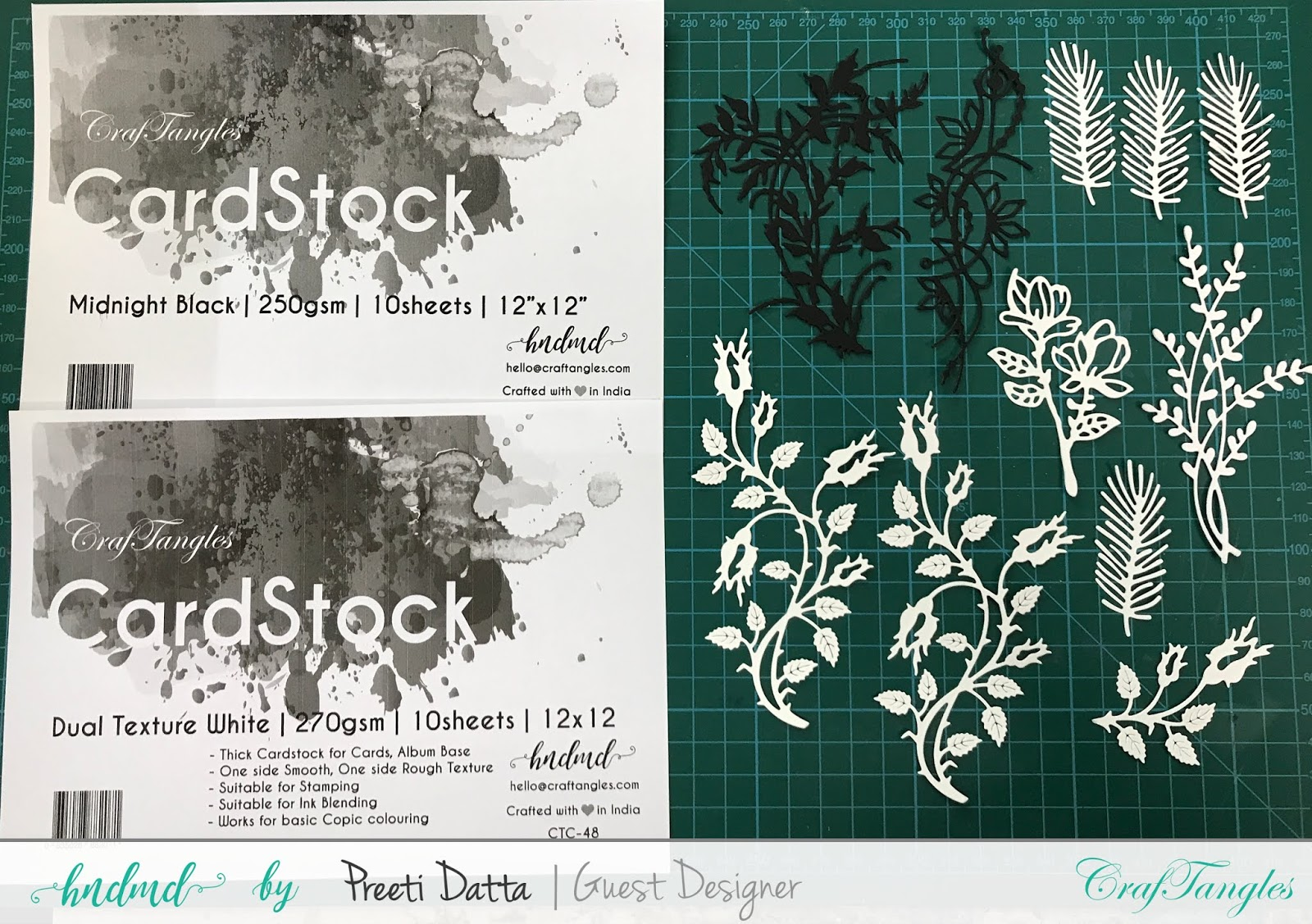 Floral Mixed Media Tag (with Pictorial) by Preeti Datta 21