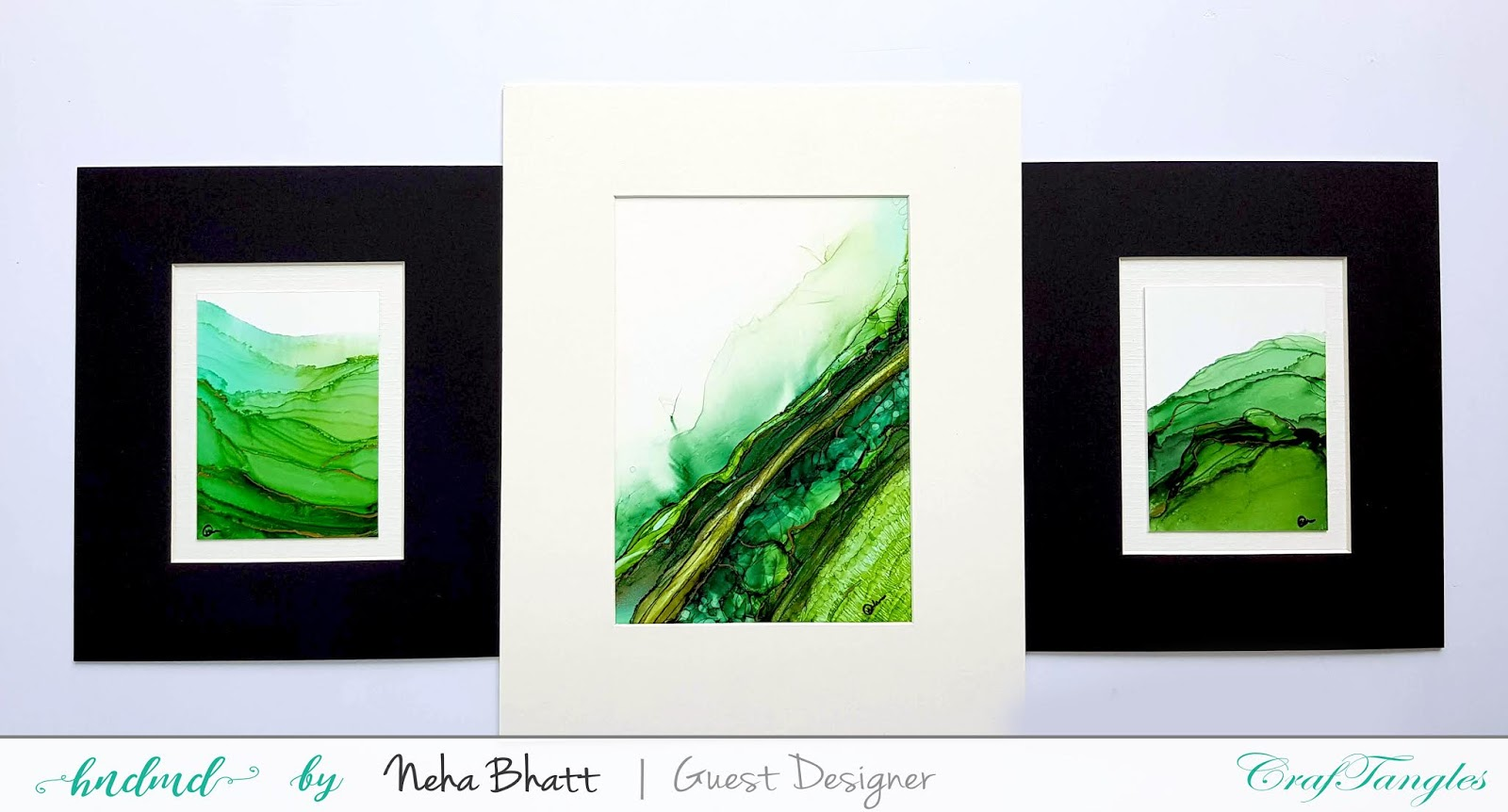 Some experiments with CrafTangles alcohol ink papers by Neha Bhatt [Periwinkle Creations] 7