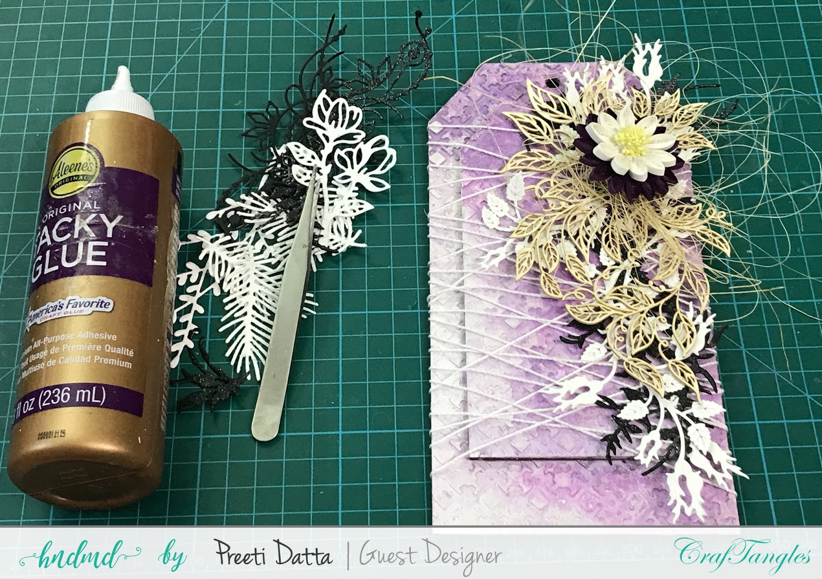 Floral Mixed Media Tag (with Pictorial) by Preeti Datta 25