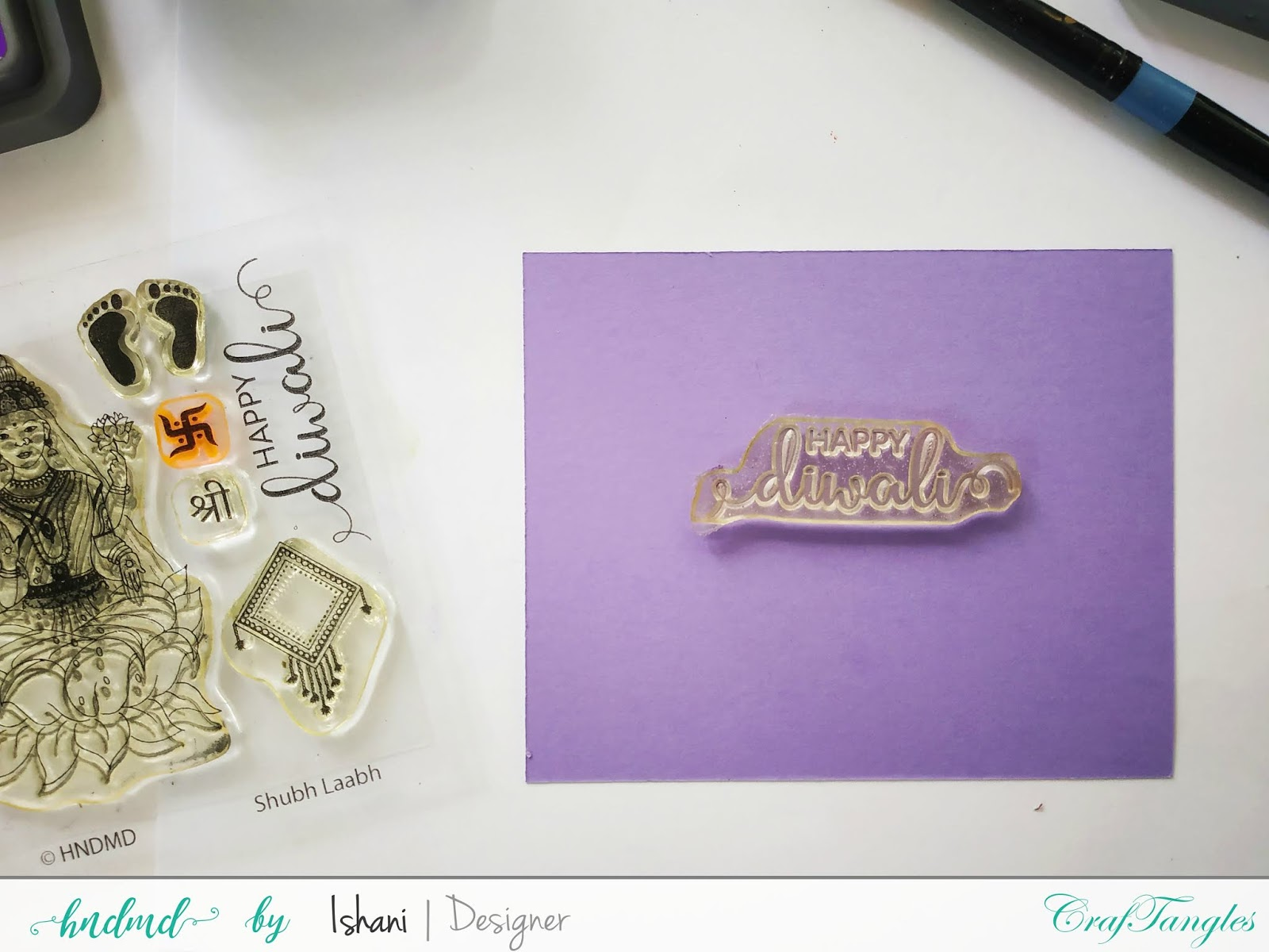 Cardmaking with stencils by Ishani 8