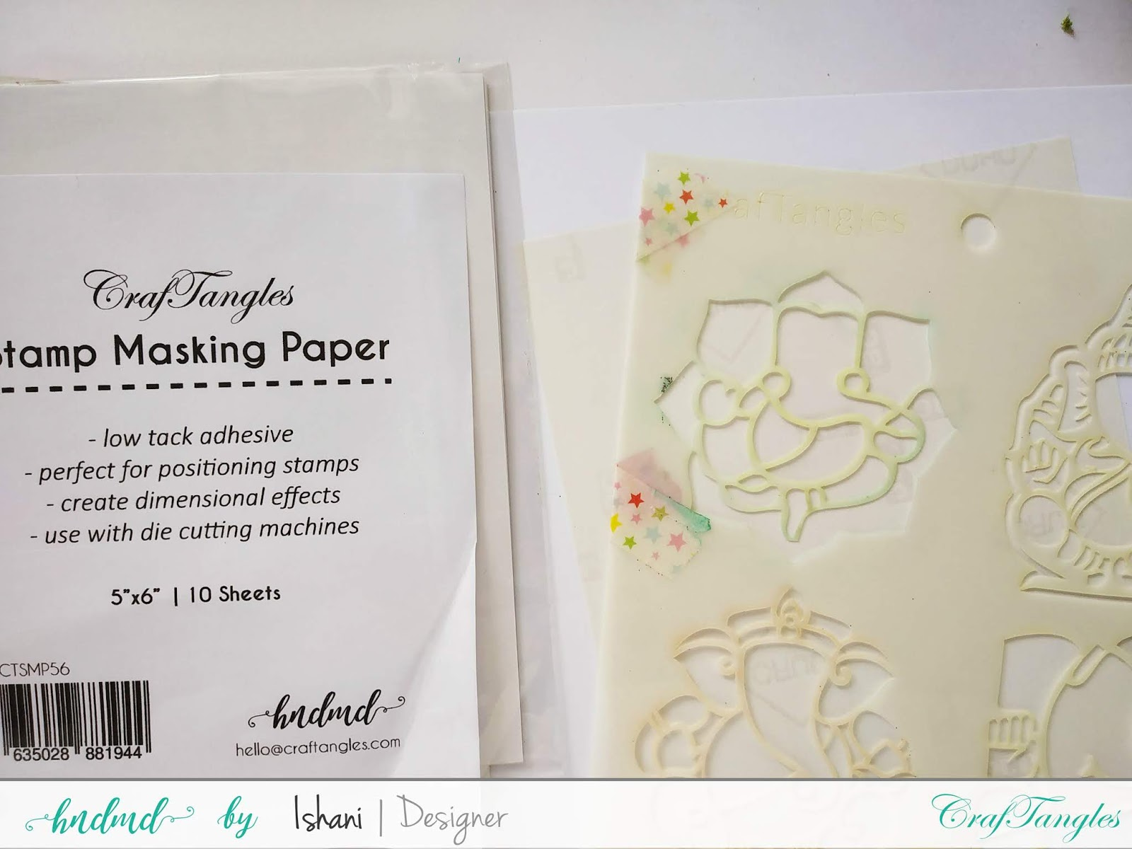 Cardmaking with stencils by Ishani 2