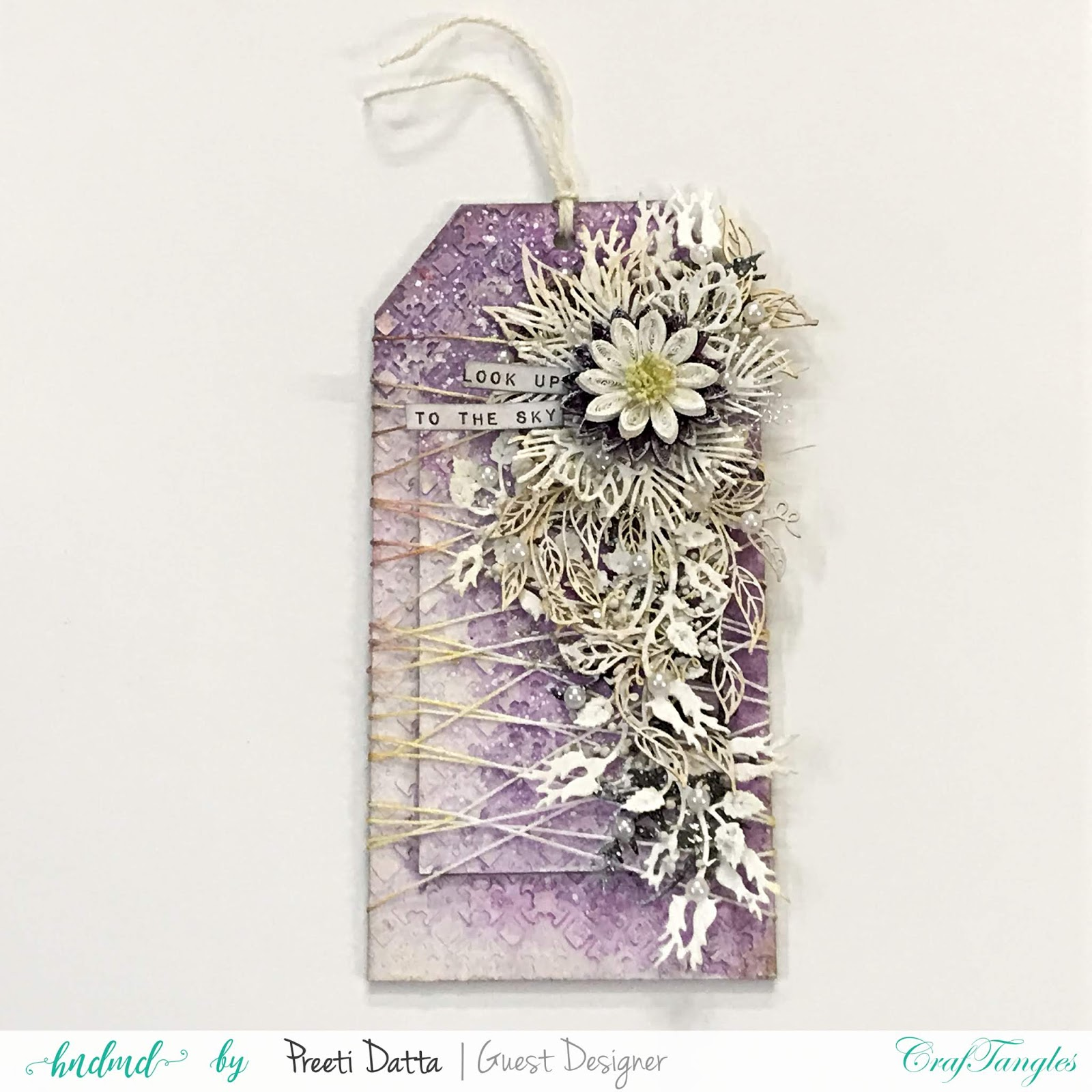 Floral Mixed Media Tag (with Pictorial) by Preeti Datta 2
