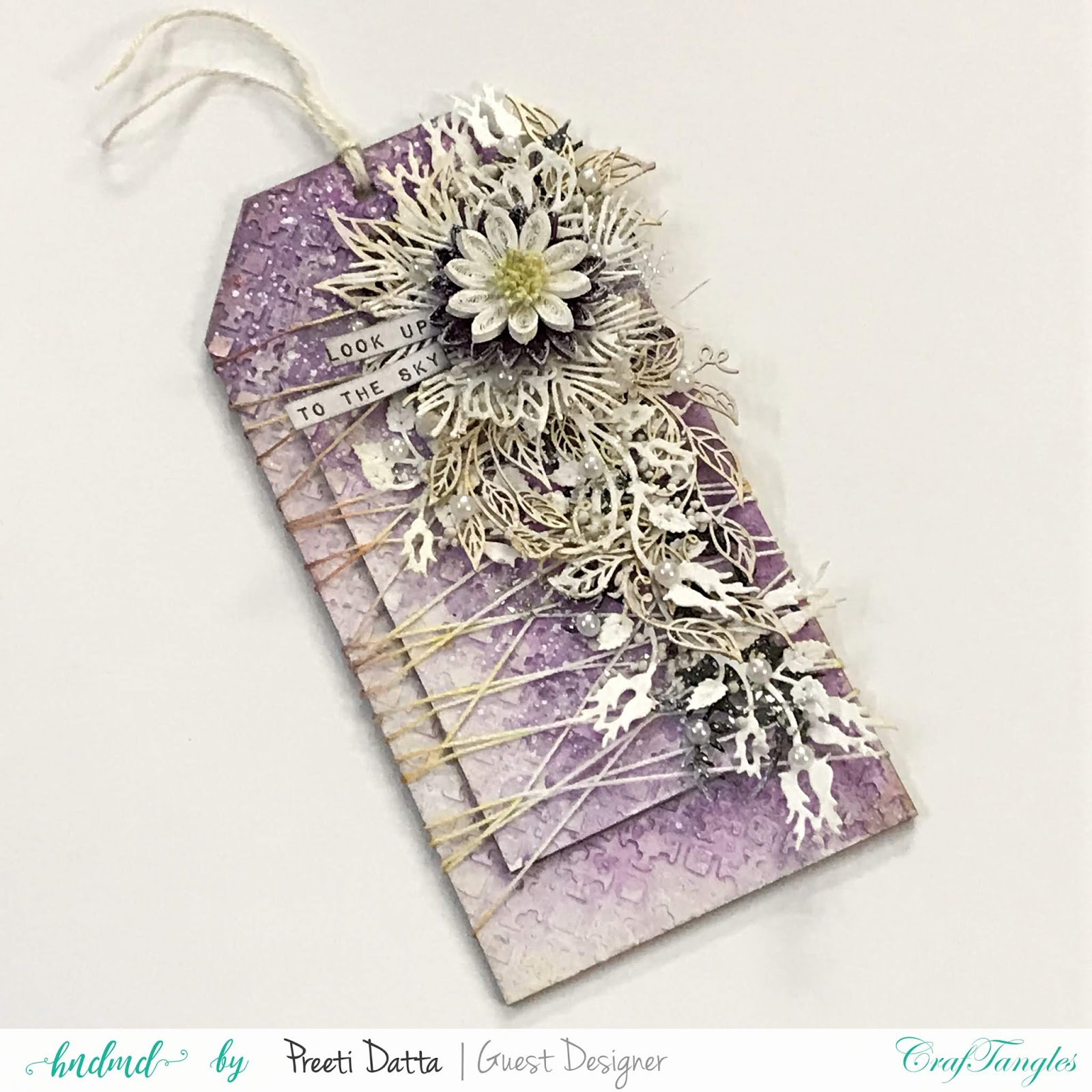 Floral Mixed Media Tag (with Pictorial) by Preeti Datta 3