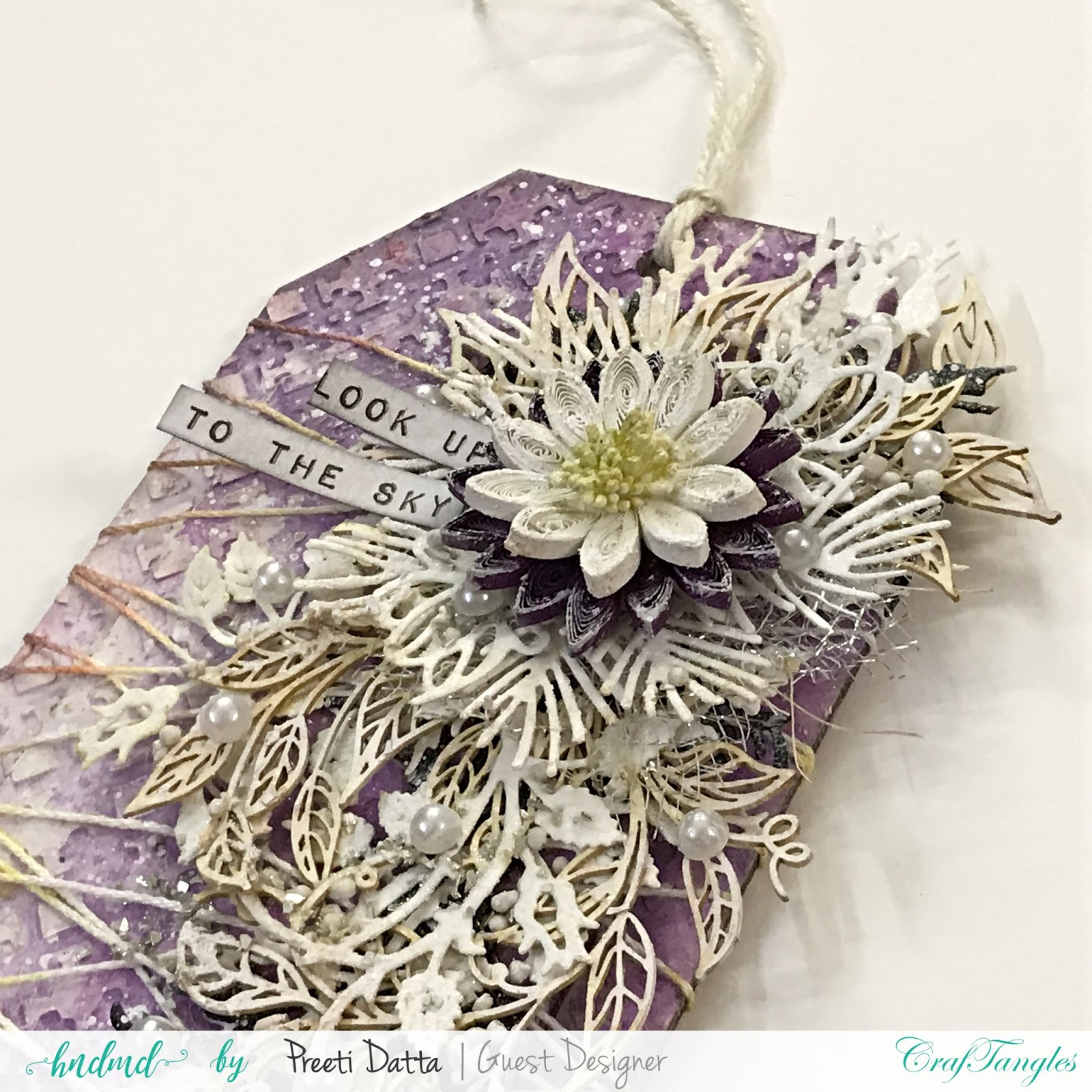 Floral Mixed Media Tag (with Pictorial) by Preeti Datta 11