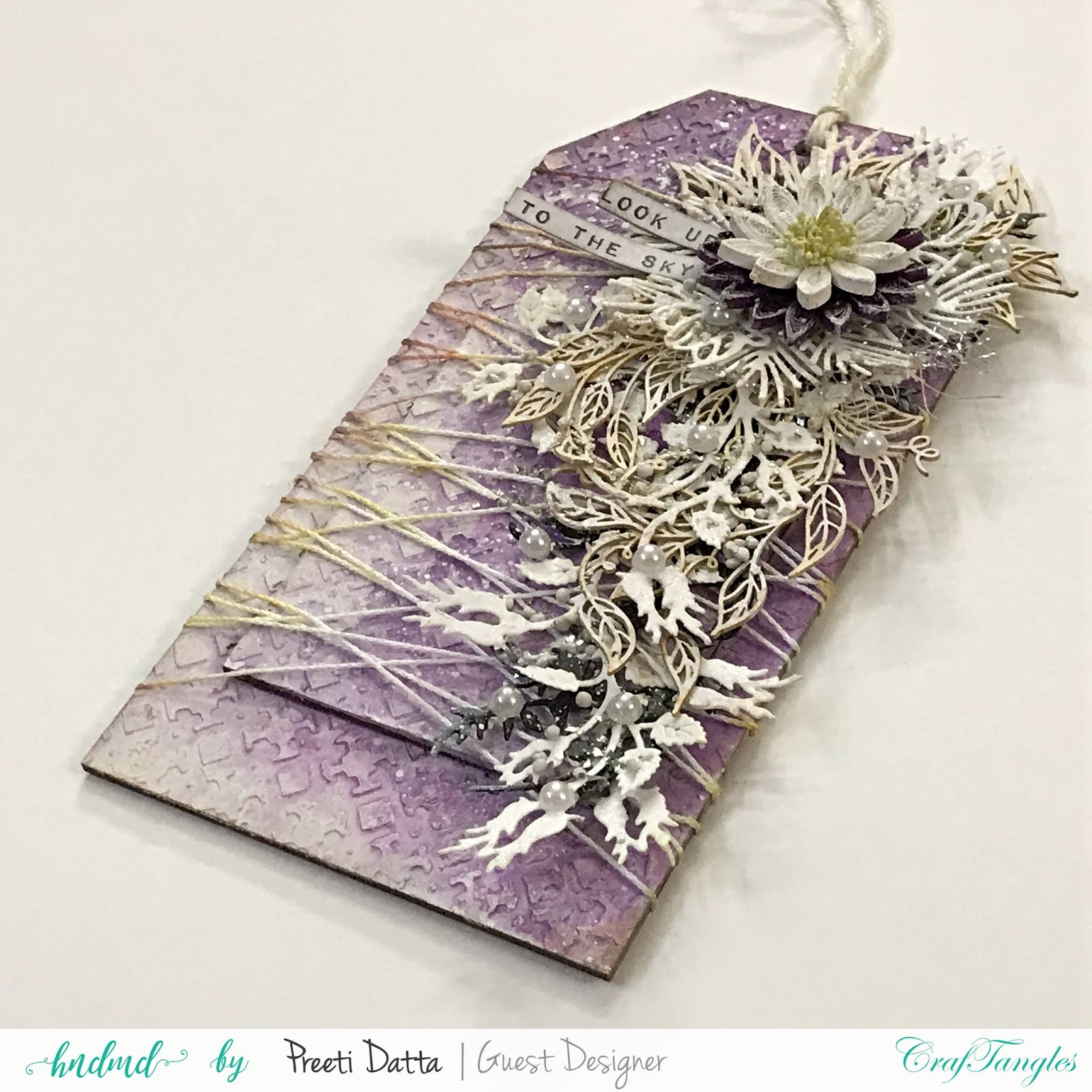 Floral Mixed Media Tag (with Pictorial) by Preeti Datta 15