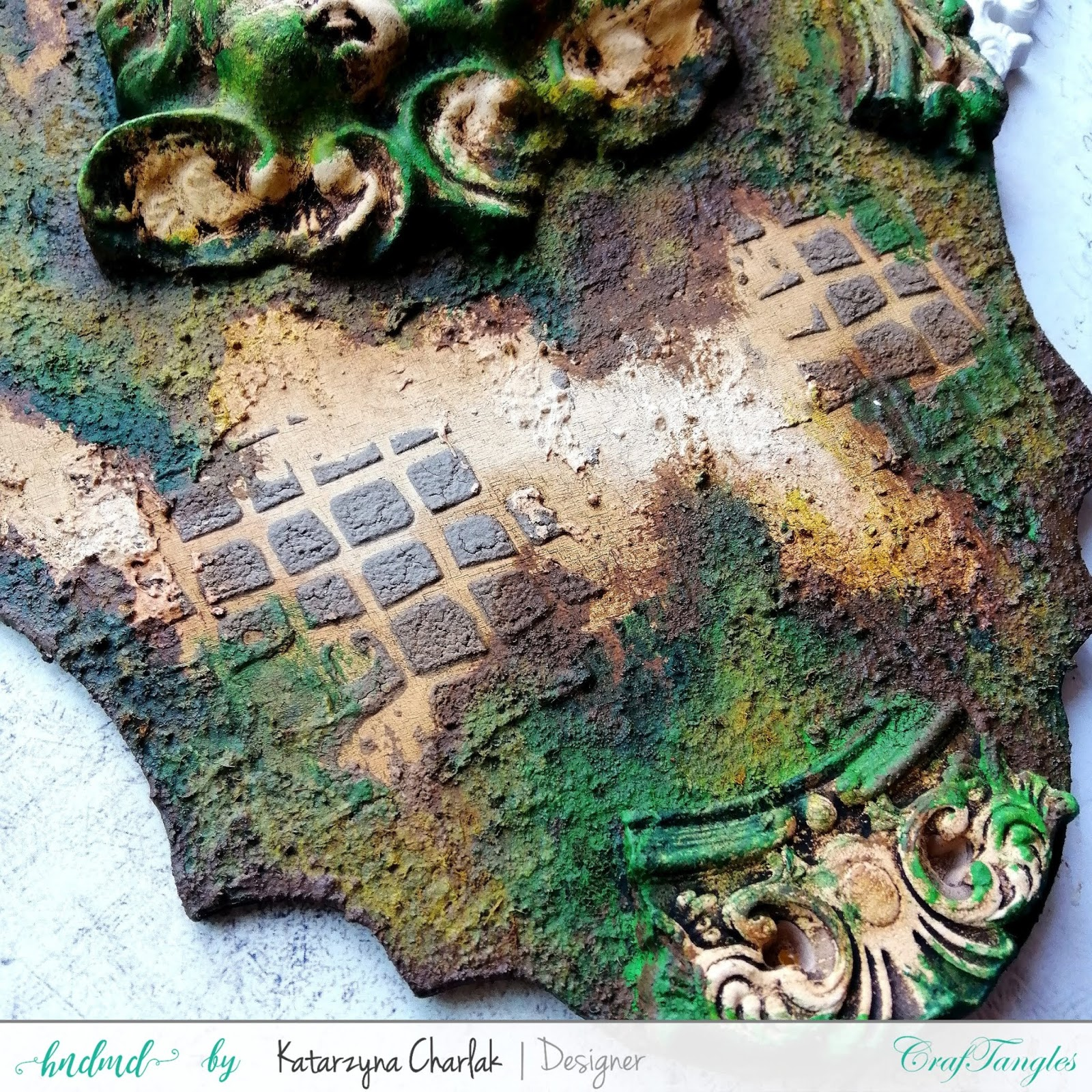 Old Panel with a Moss Effect by Katarzyna Charlak (Kasypea Art) 5