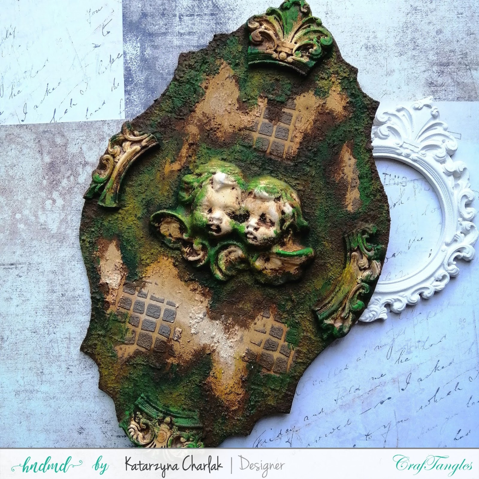 Old Panel with a Moss Effect by Katarzyna Charlak (Kasypea Art) 2