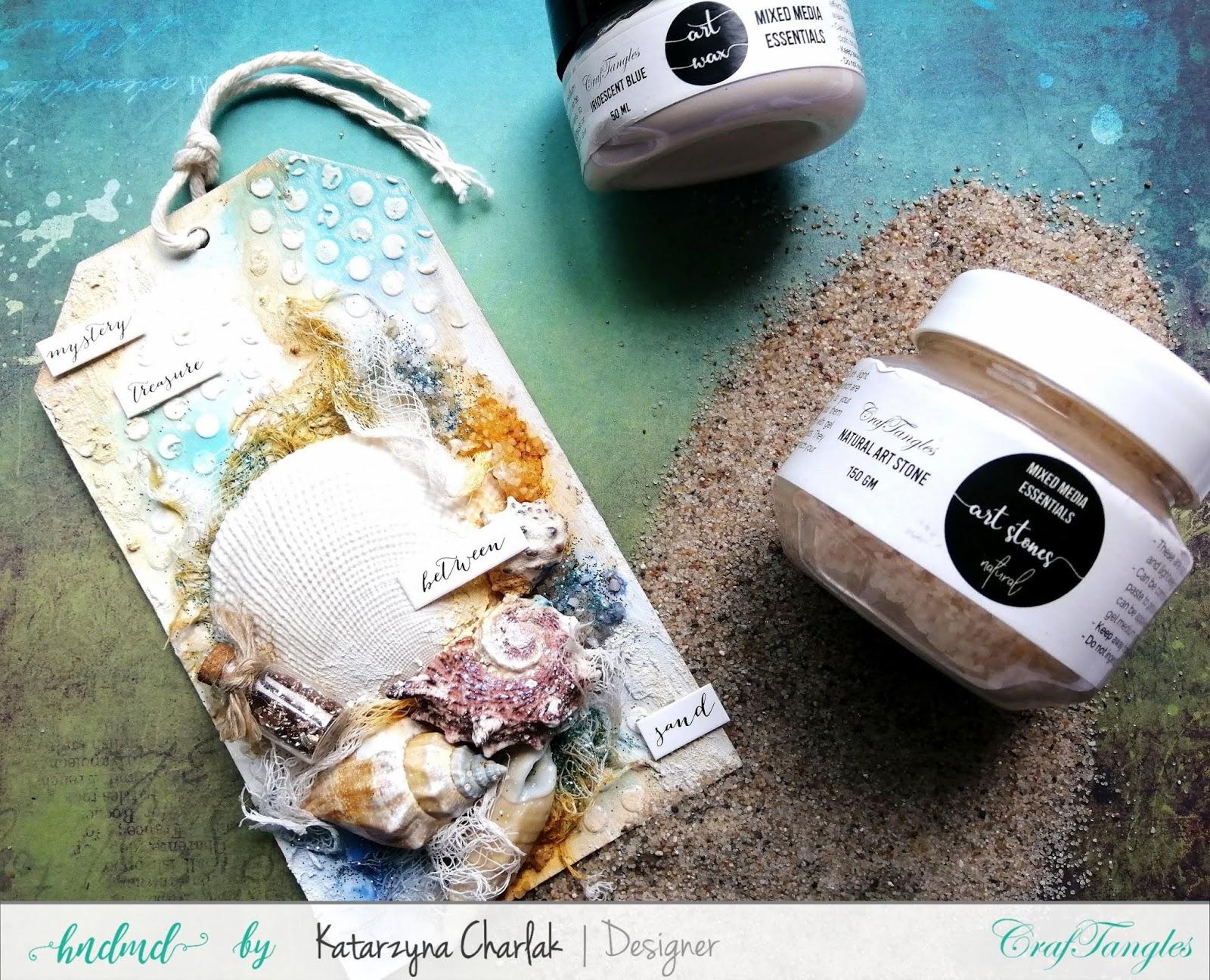 """""""Sea Treasures"""" Mix Media Tag by Katarzyna Charlak (Kasyopea Art) 4"""