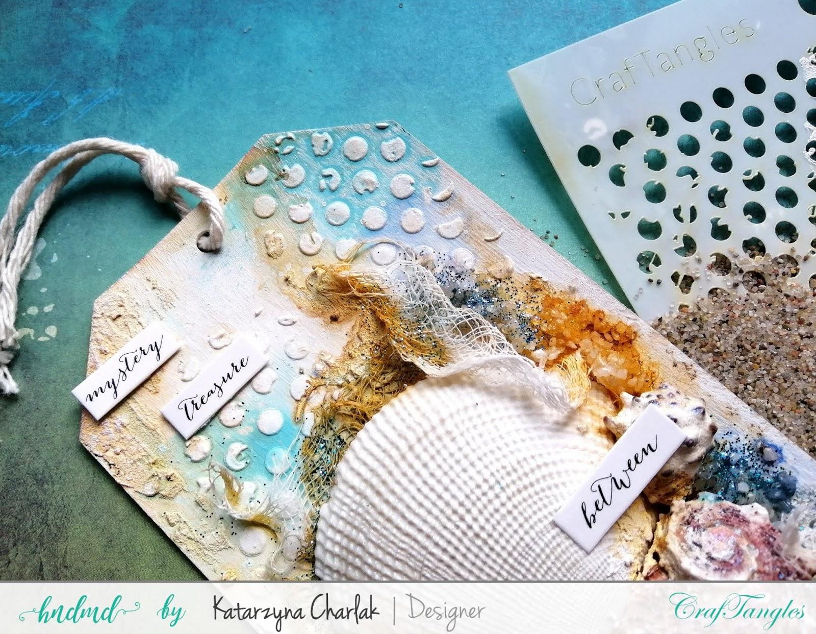 """""""Sea Treasures"""" Mix Media Tag by Katarzyna Charlak (Kasyopea Art) 3"""