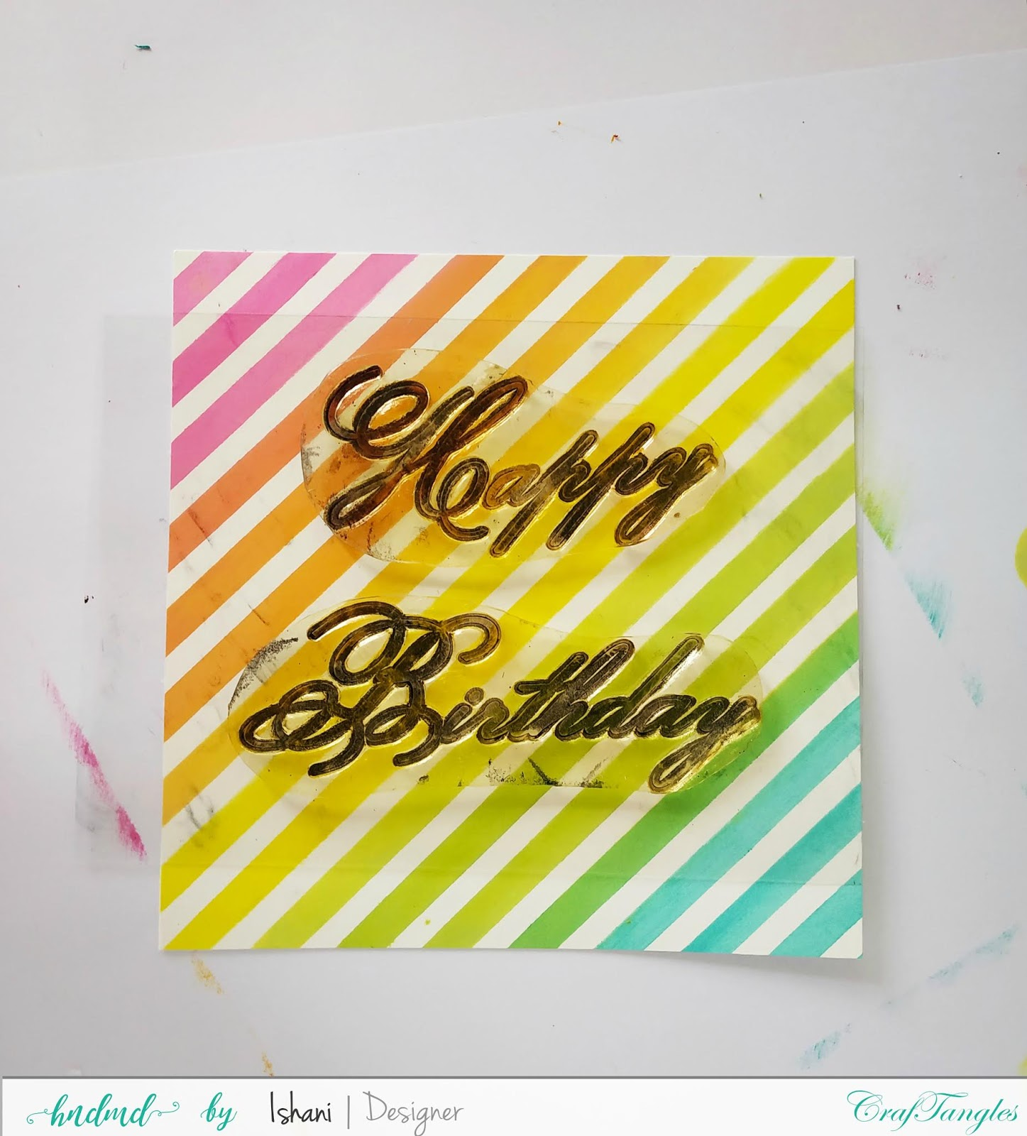 Cardmaking with stencils by Ishani 16