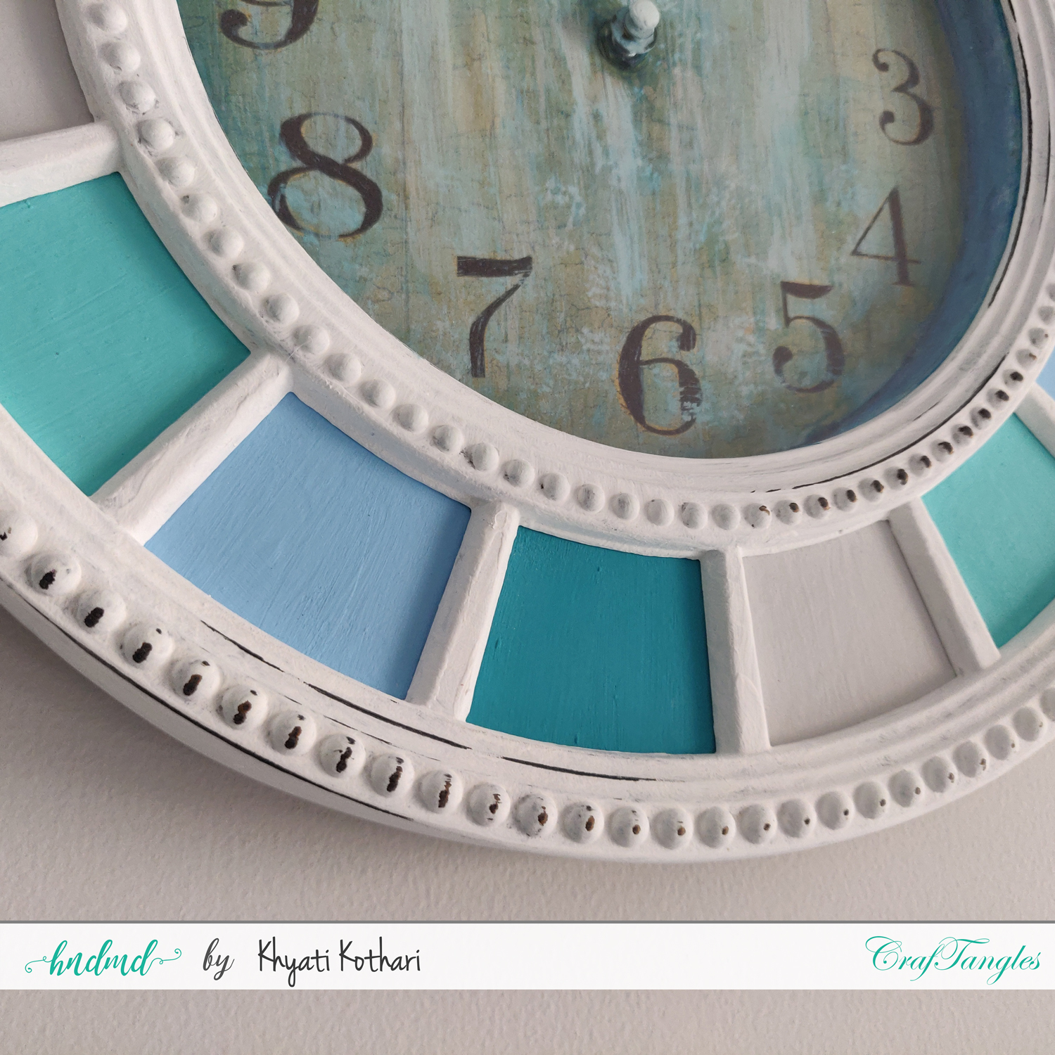 Altered Clock using CrafTangles products with Video Tutorial 4