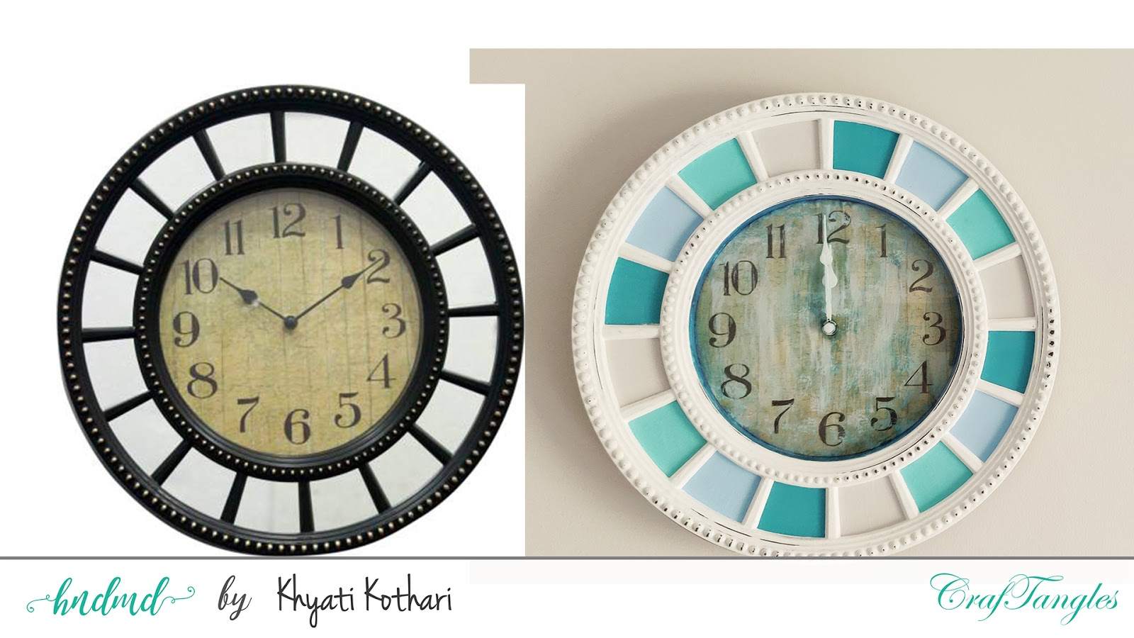 Altered Clock using CrafTangles products with Video Tutorial 3
