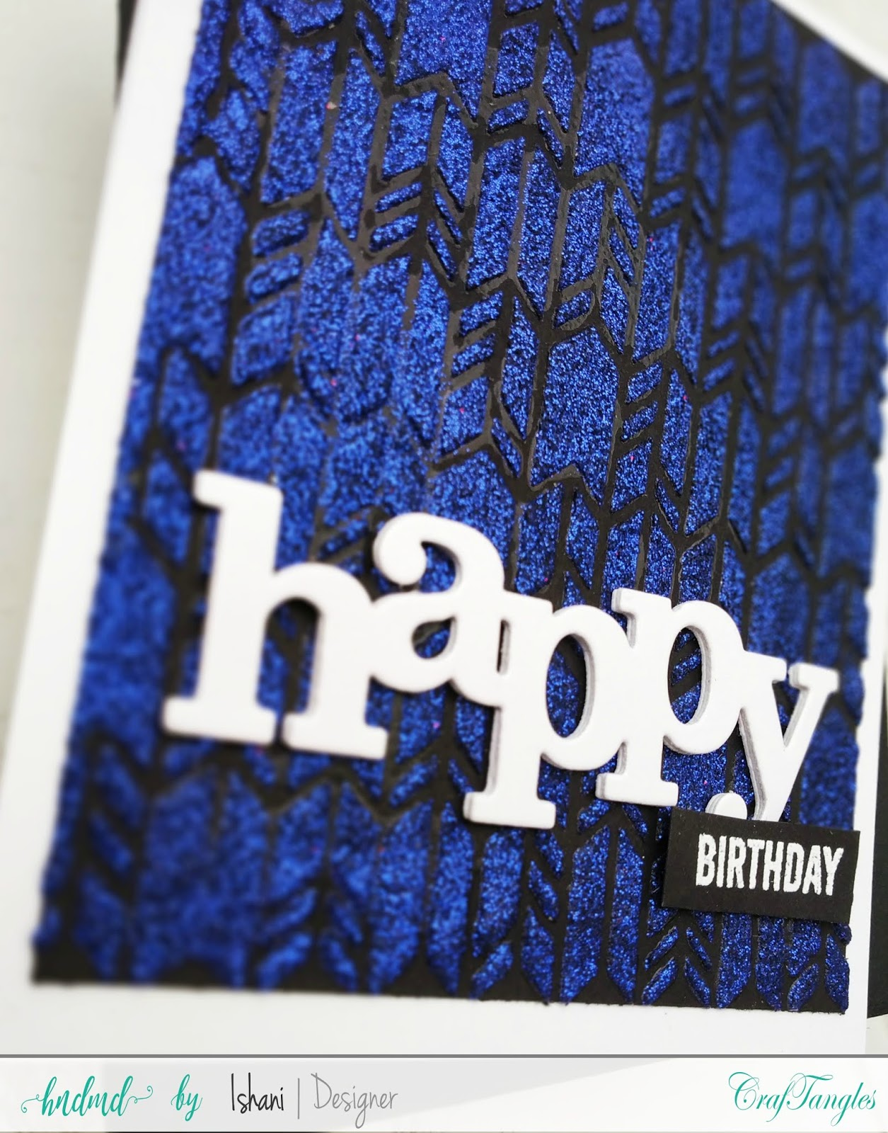 Craftangles herringbone stencil, Stenciled Birthday card, Craftangles glimmer paste, Craftangles stencils cards, cards with stencil, cards with shimmer paste, stenciled card, birthday card with stencil, quillish