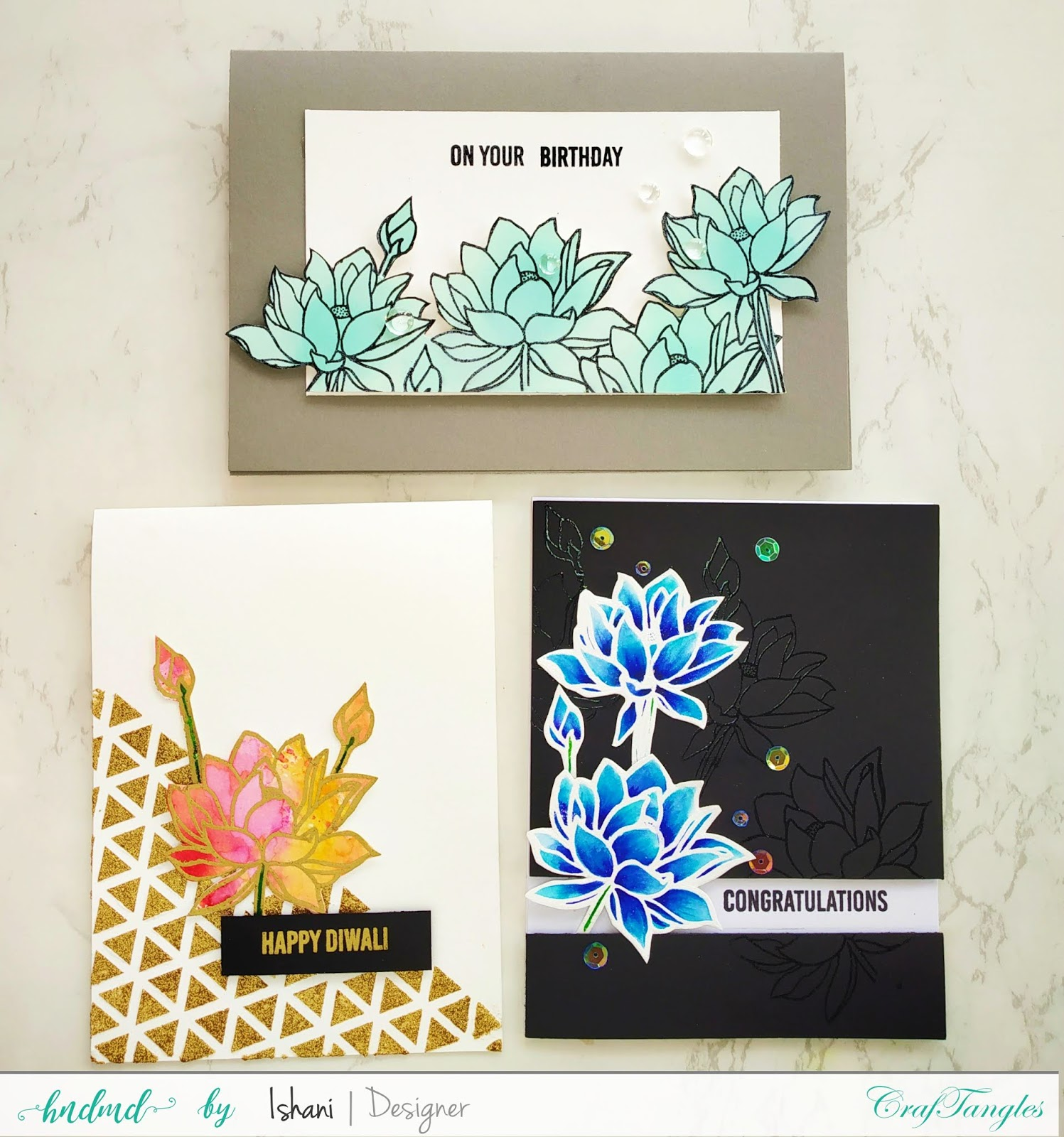 Video tutorial - 3 Simple cards featuring Stamp set - Hello Lovely. 1