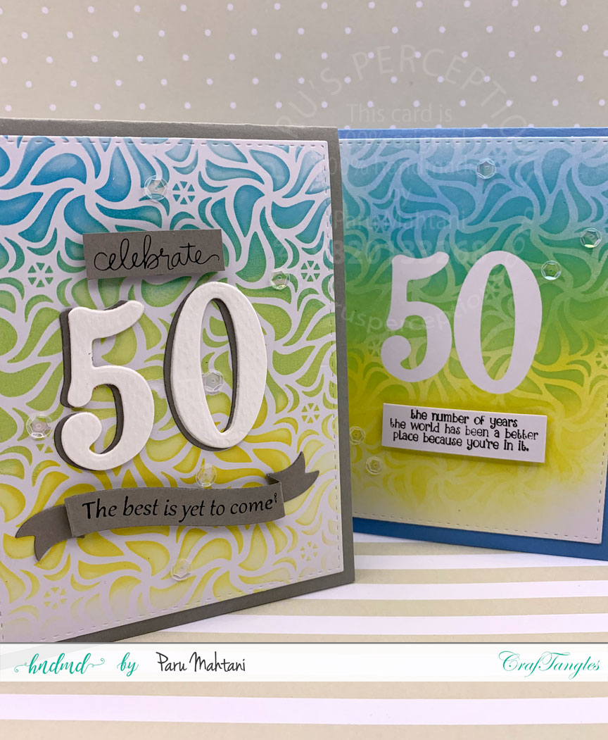 CrafTangles August 2019 Challenge - Birthday 66