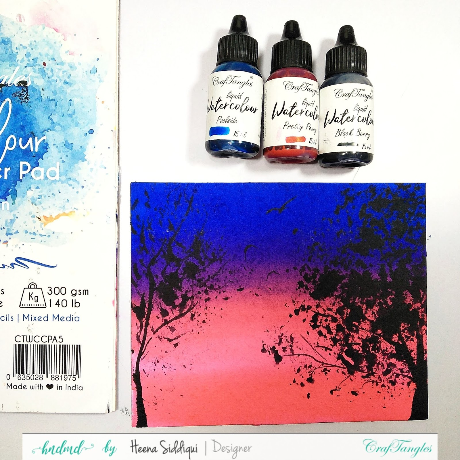 Watercolor Silhouette Painting - Video Tutorial 1