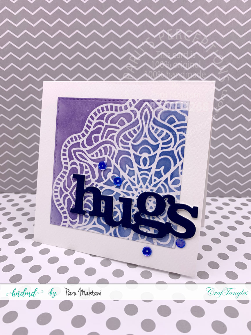 Ink blending with Lace stencils 4