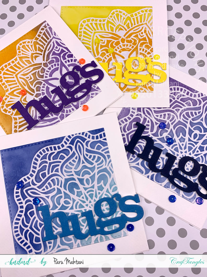Ink blending with Lace stencils 2