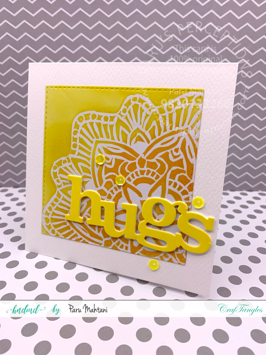 Ink blending with Lace stencils 6