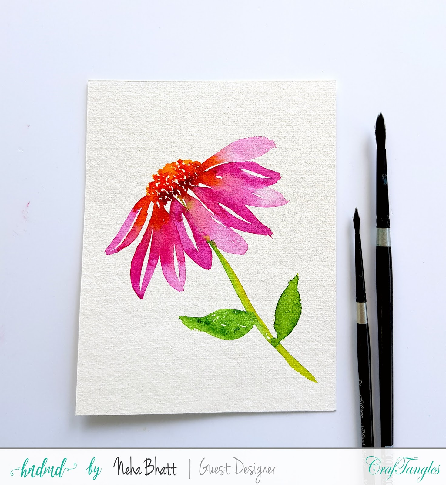Some experiments with CrafTangles Rough watercolor paper by Neha Bhatt 1