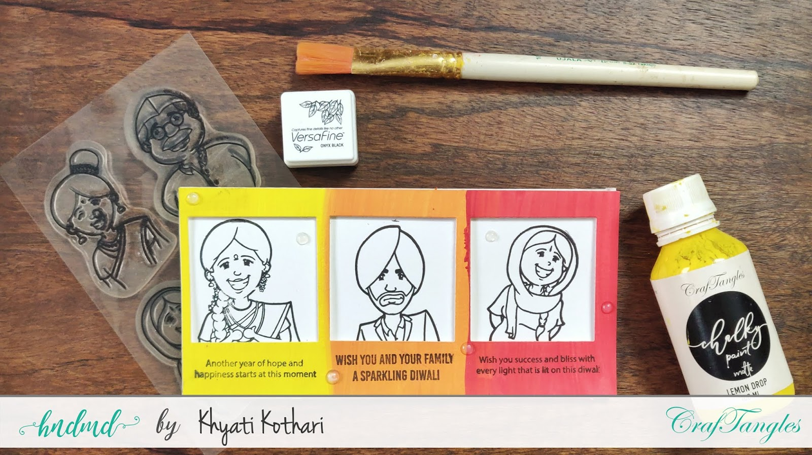 3 quick Diwali cards with a video tutorial by Khyati 6