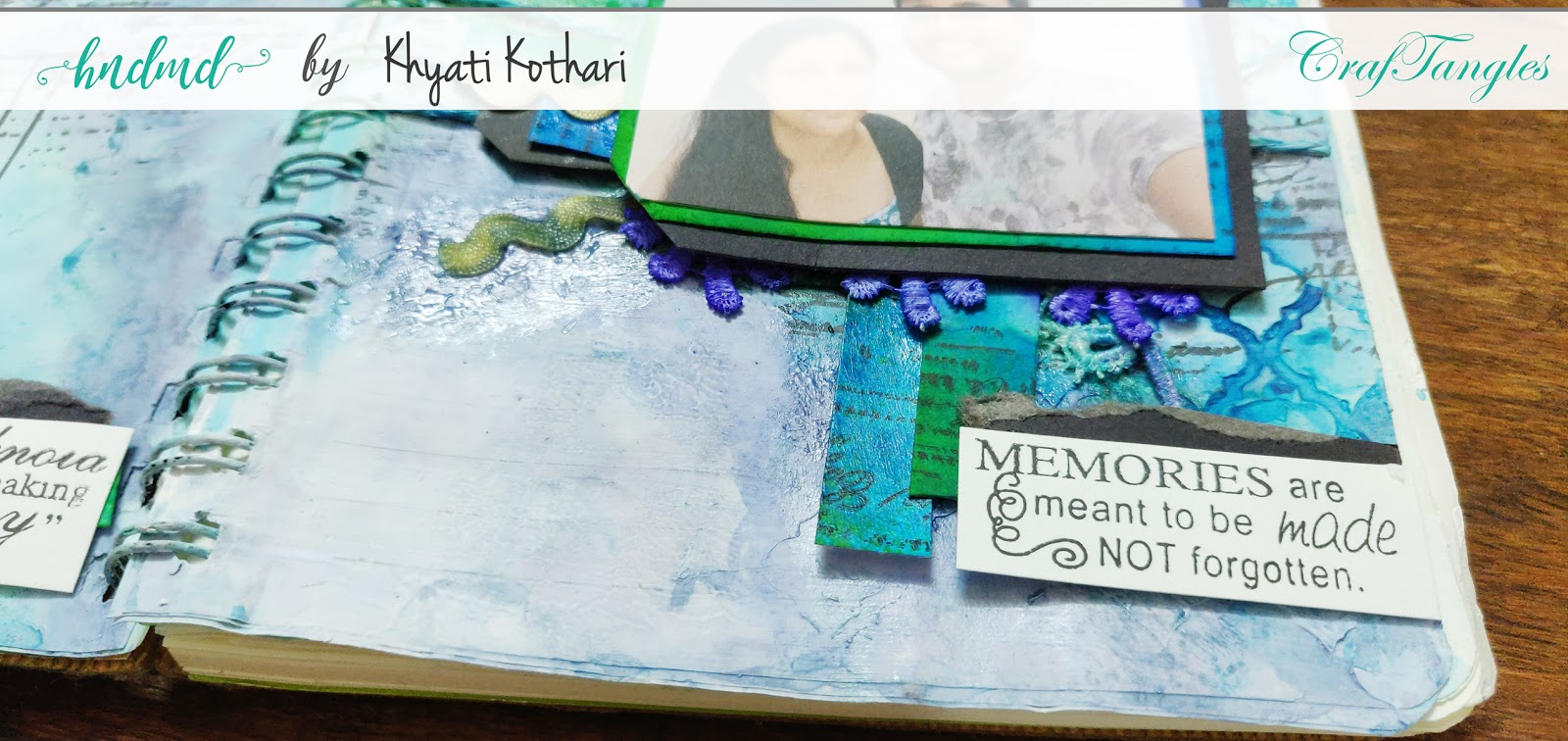 First attempt at Art Journal page using CrafTangles products 4