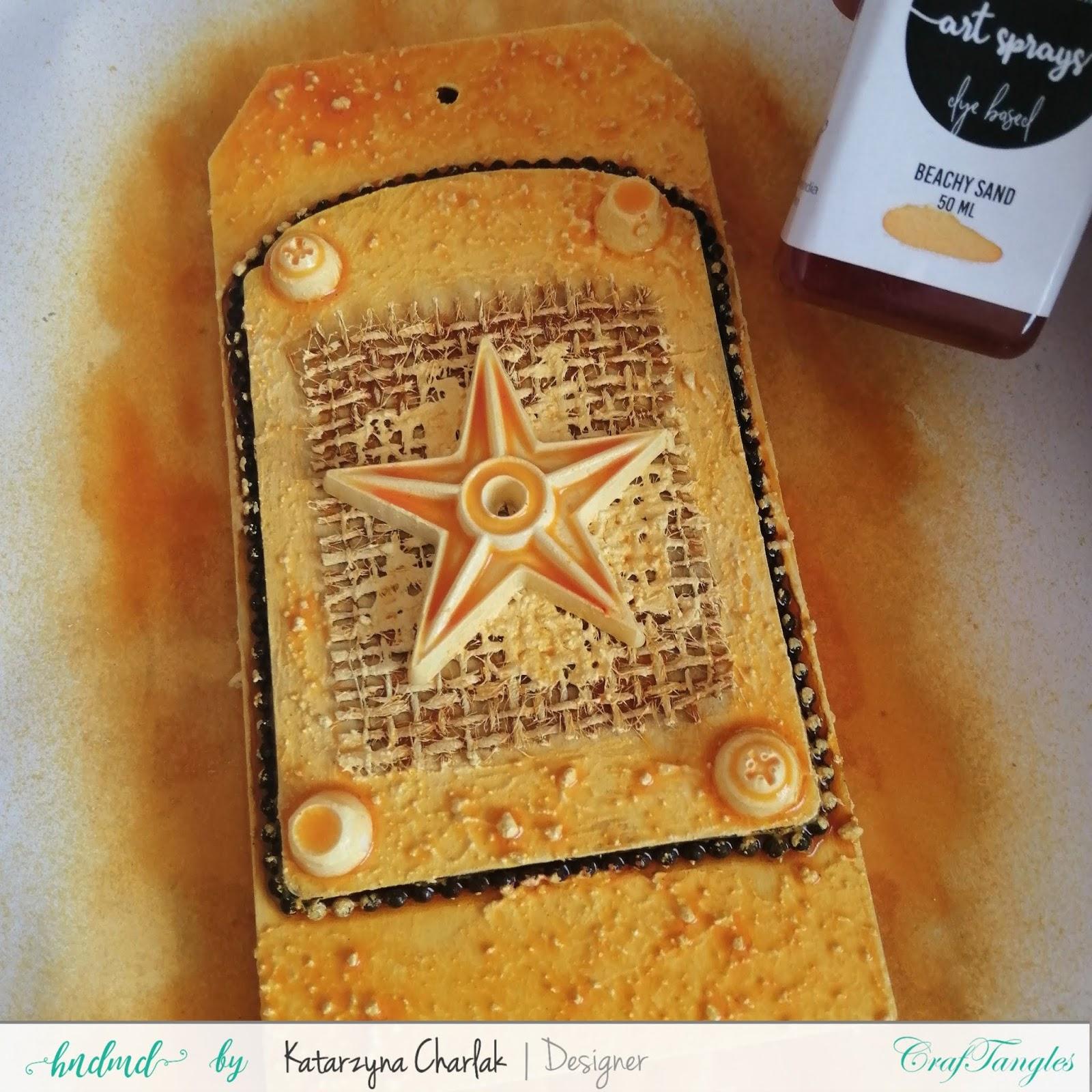 Rusty Tag- step by step tutorial by Katarzyna Charlak 5