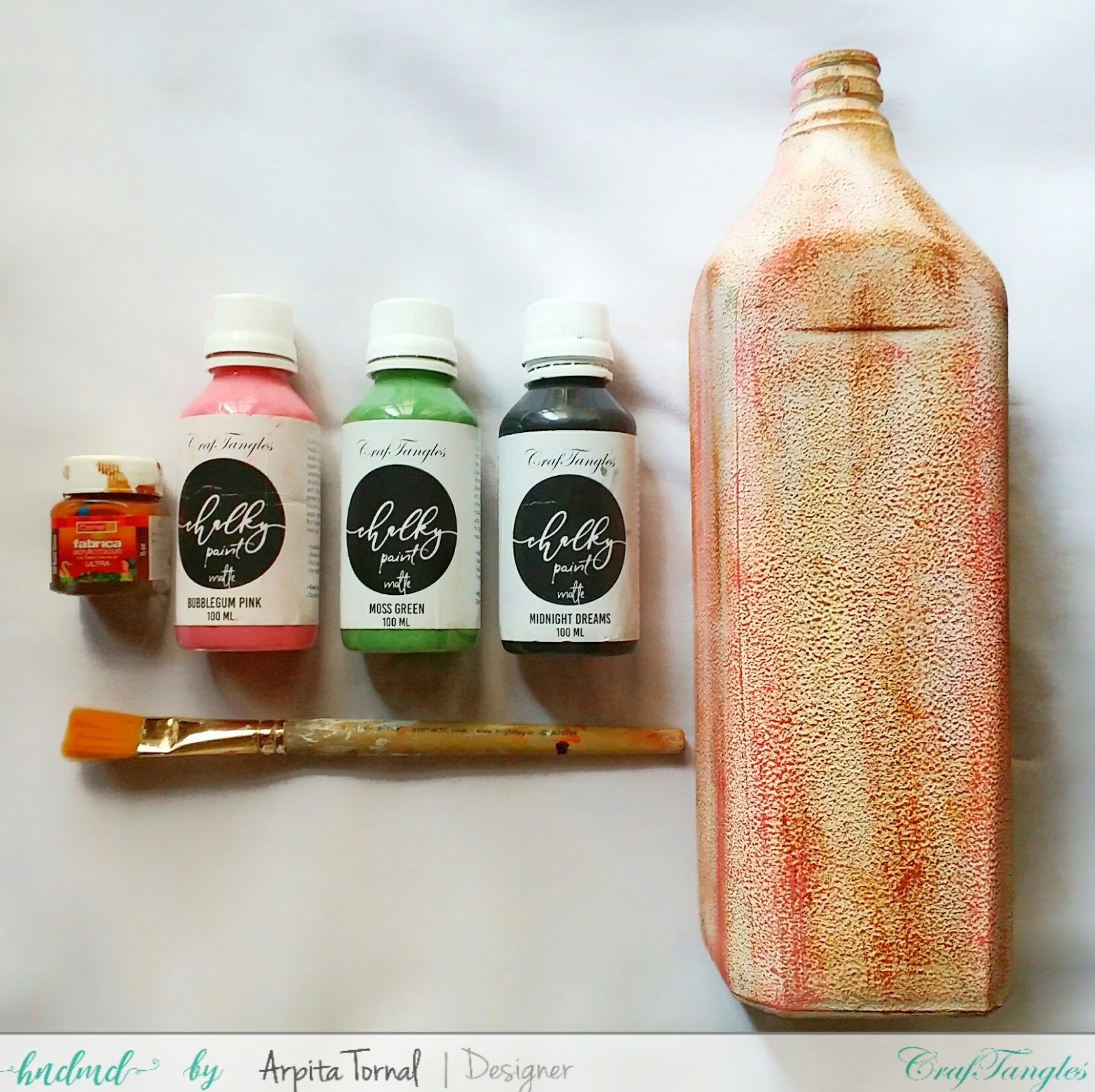 How to Decoupage On Bottle with picture tutorial by Arpita 2