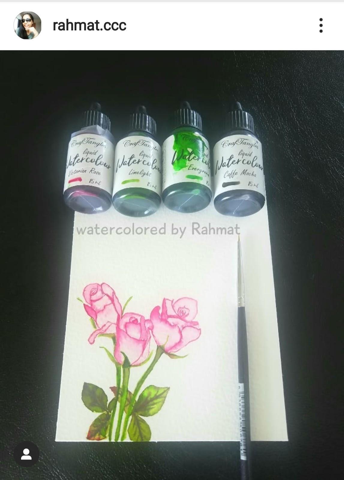 Freehand Watercolor painting - Rahmat 4