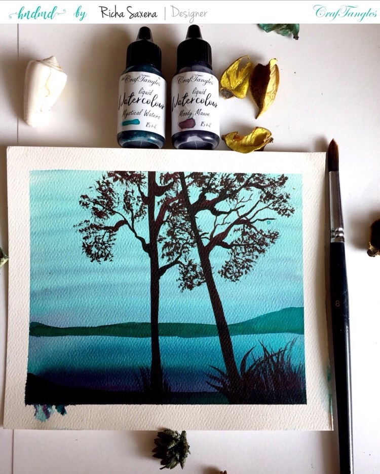 Watercolor painting tutorail 1