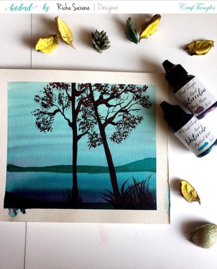 Watercolor painting tutorail 2