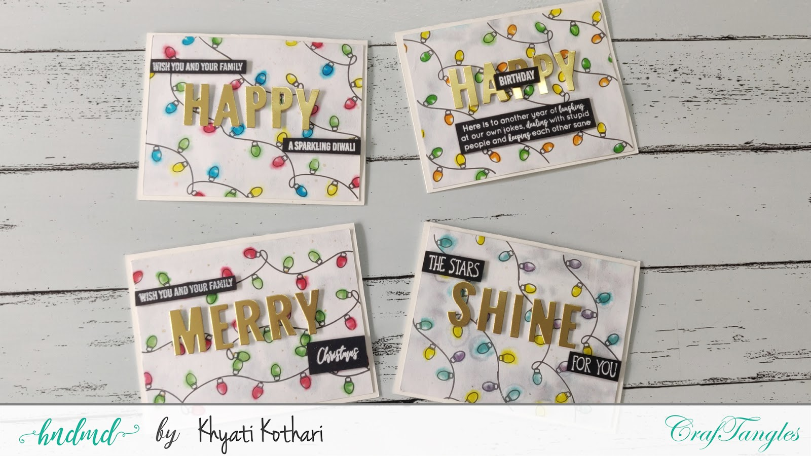 Colorful cards for any occasion using one card layout- Cardmaking Video tutorial 2