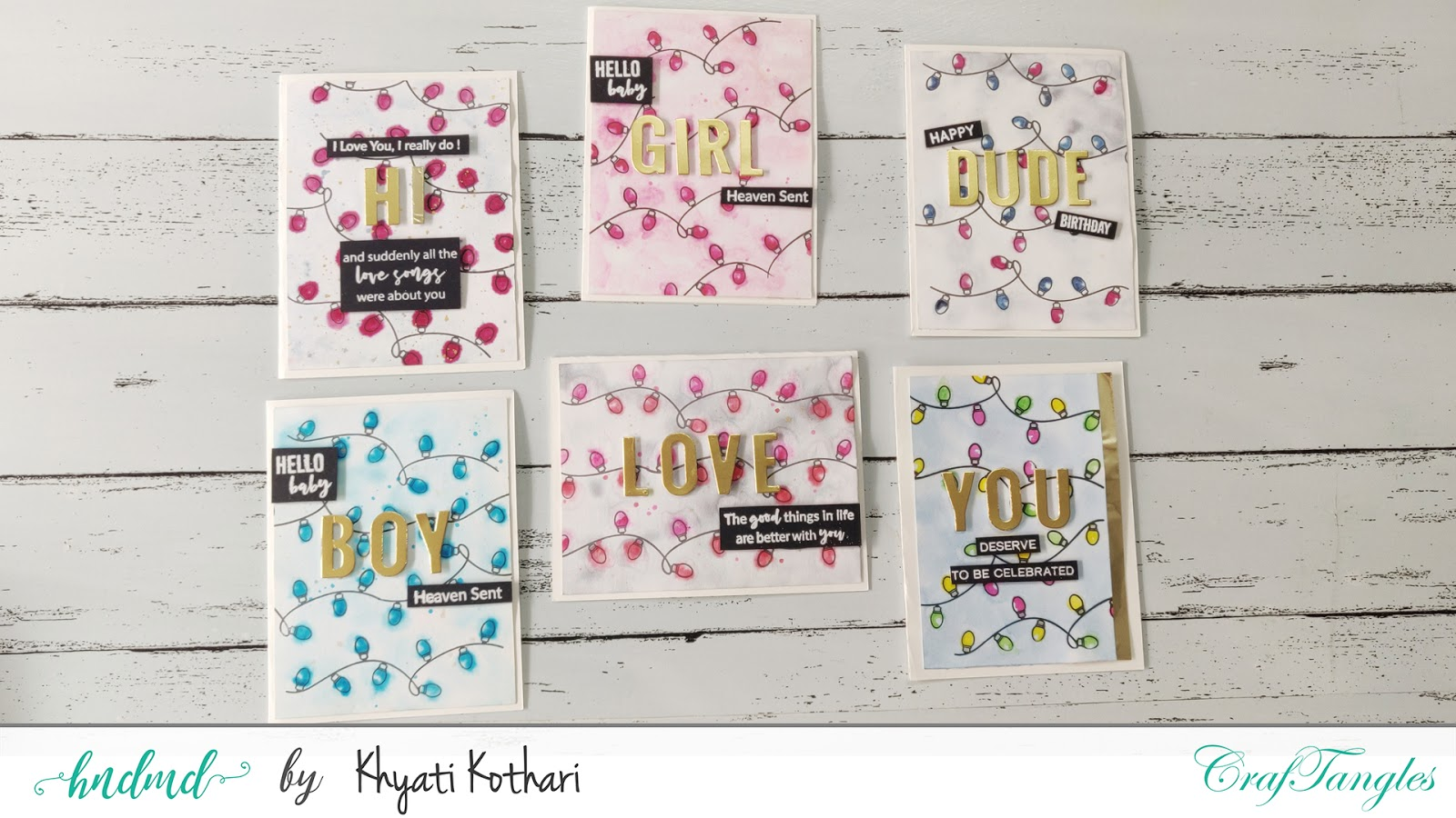 Colorful cards for any occasion using one card layout- Cardmaking Video tutorial 3