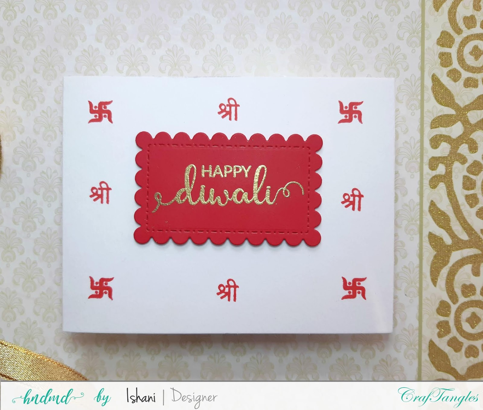 Video tutorial - Ideas for mass producing Diwali cards 5