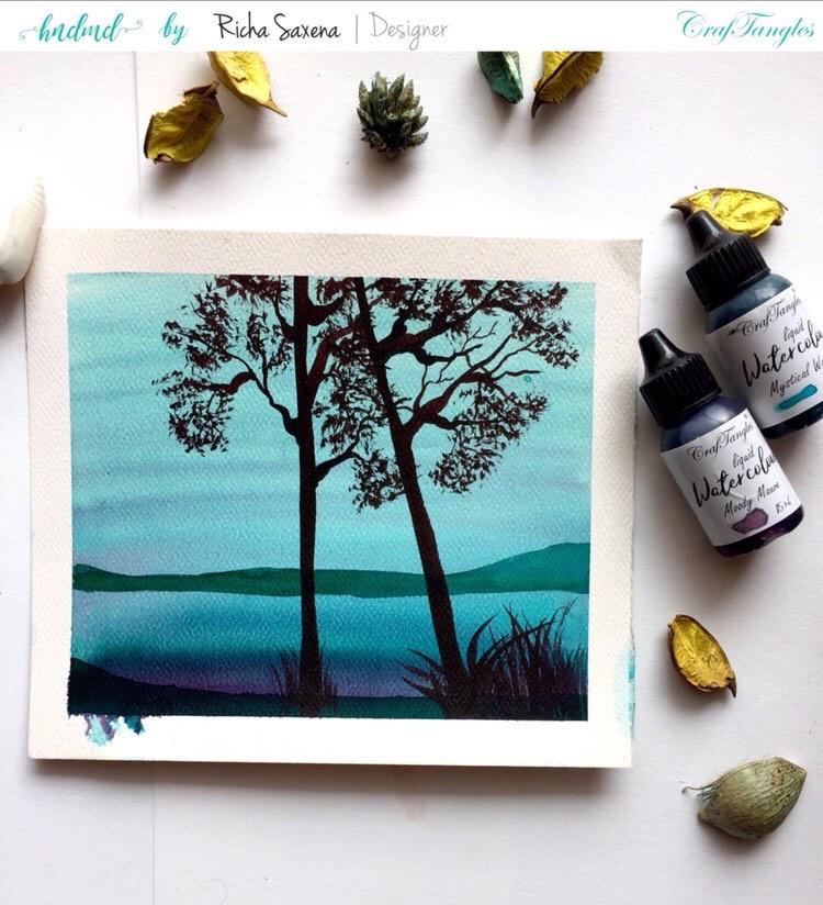 Watercolor painting tutorail 3