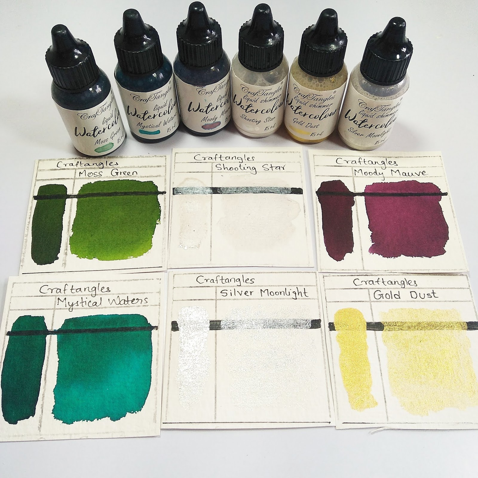 Watercolor painting on alcohol ink papers 1