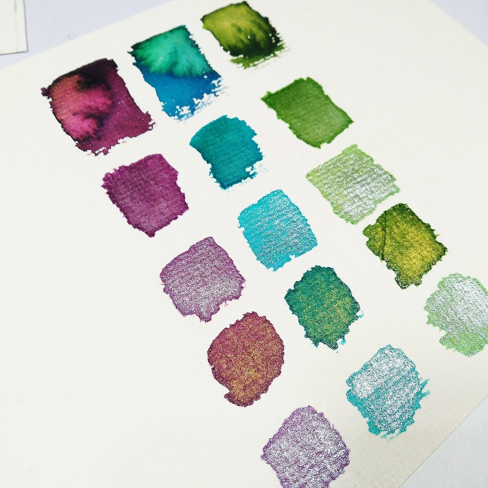 Watercolor painting on alcohol ink papers 3