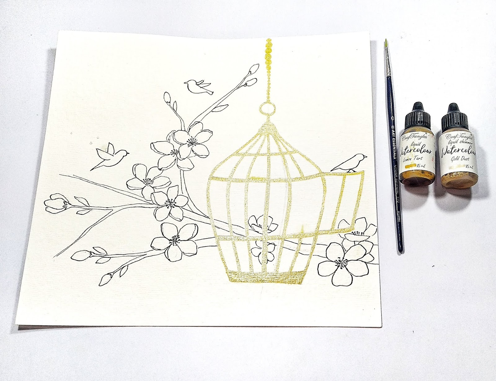 Watercolor Illustration Step by Step Tutorial 7